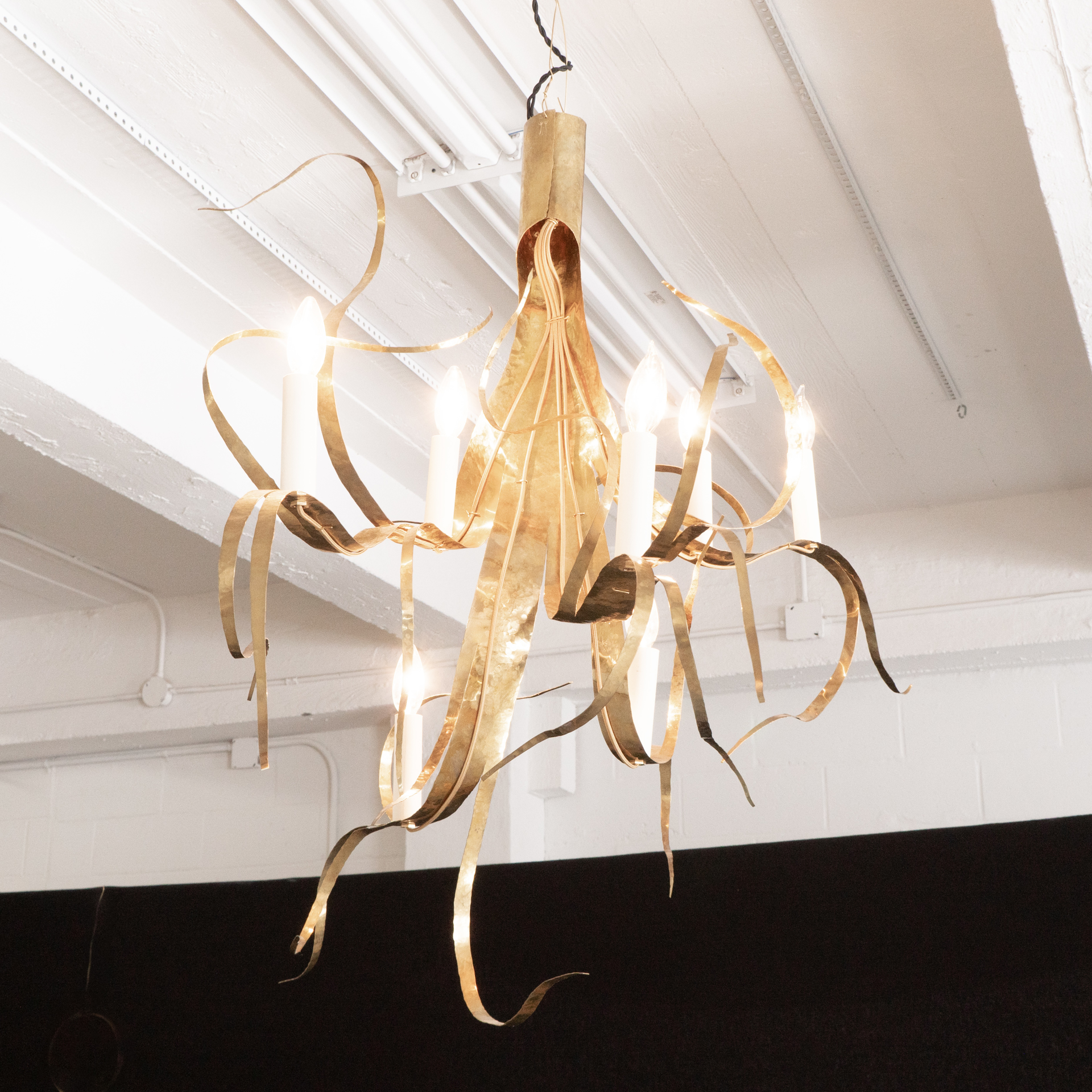 """""""Fiori"""" chandelier 7 lights by Jacques Jarrige"""