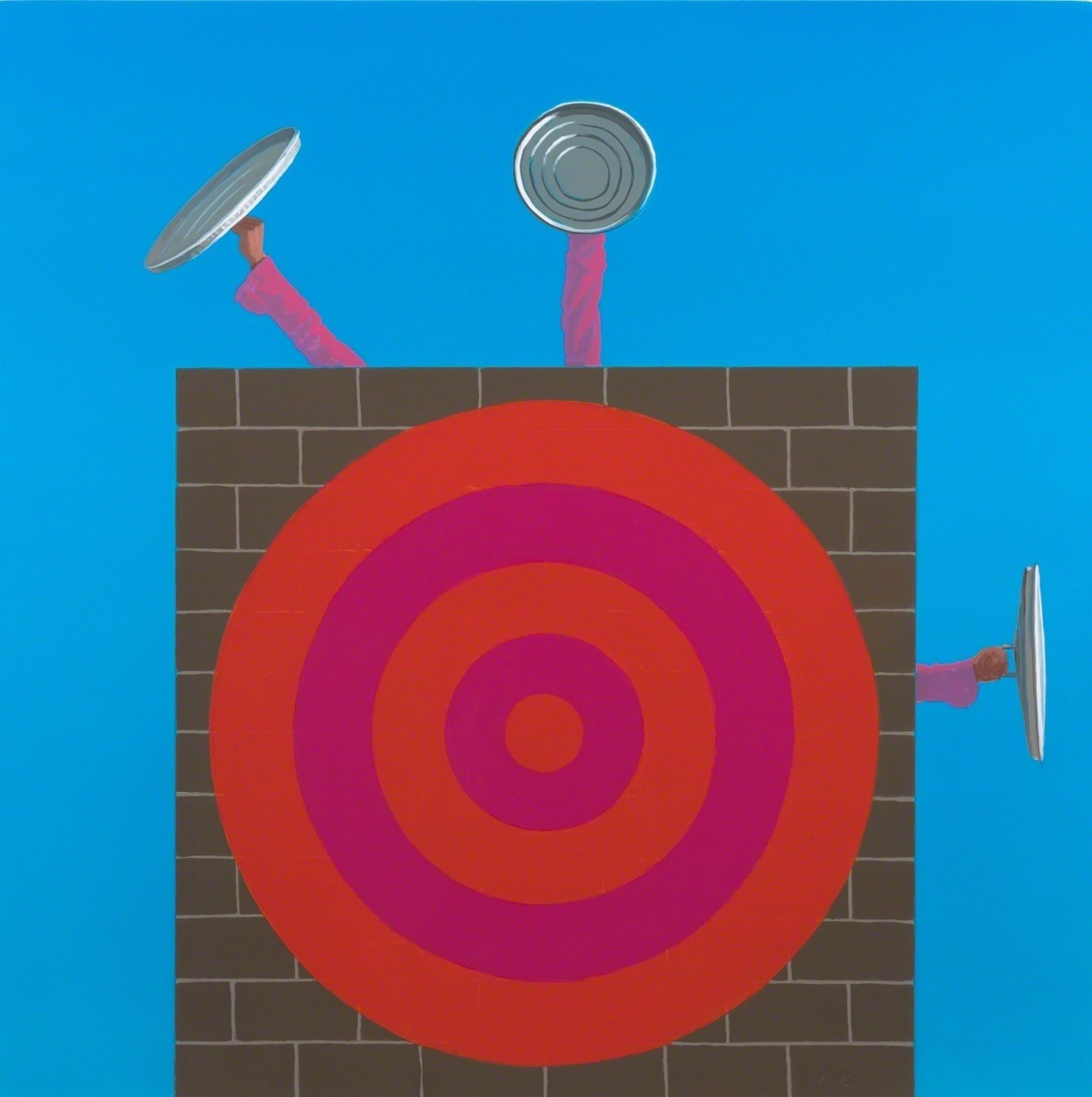 Wall with Target by Vonn Cummings Sumner