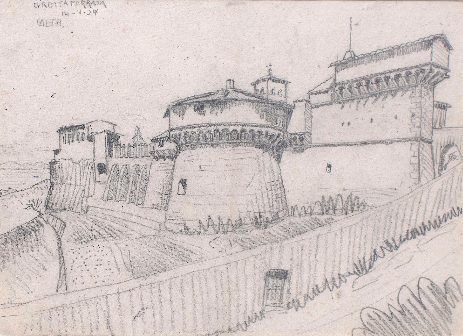 Grotta Ferrata (Castle) by M.C. Escher