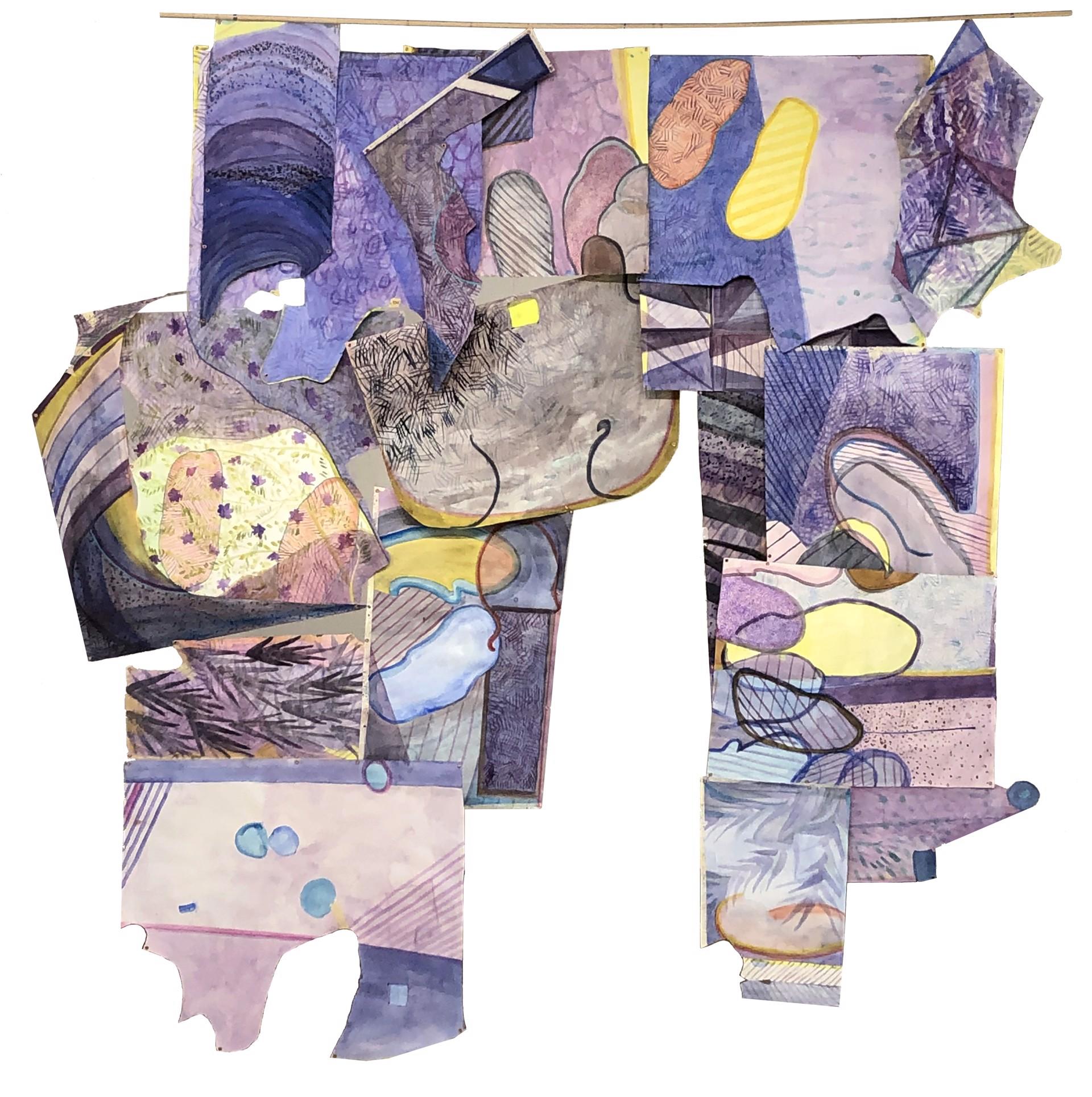 Mariah Anne Johnson - Silver Lake Walks Night & Day (fragment) by Visiting Artist