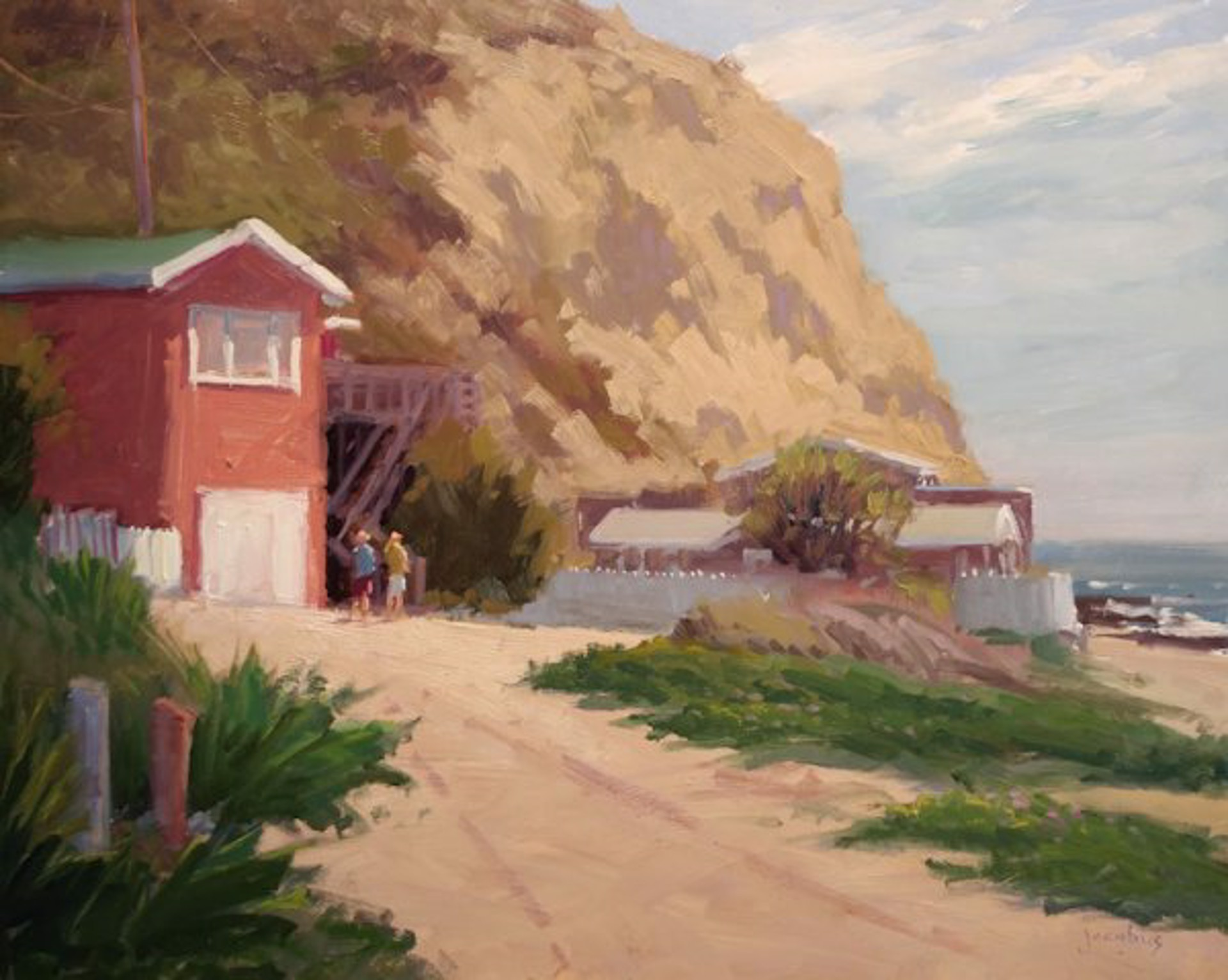 Red Cottage, Crystal Cove by Jacobus Baas