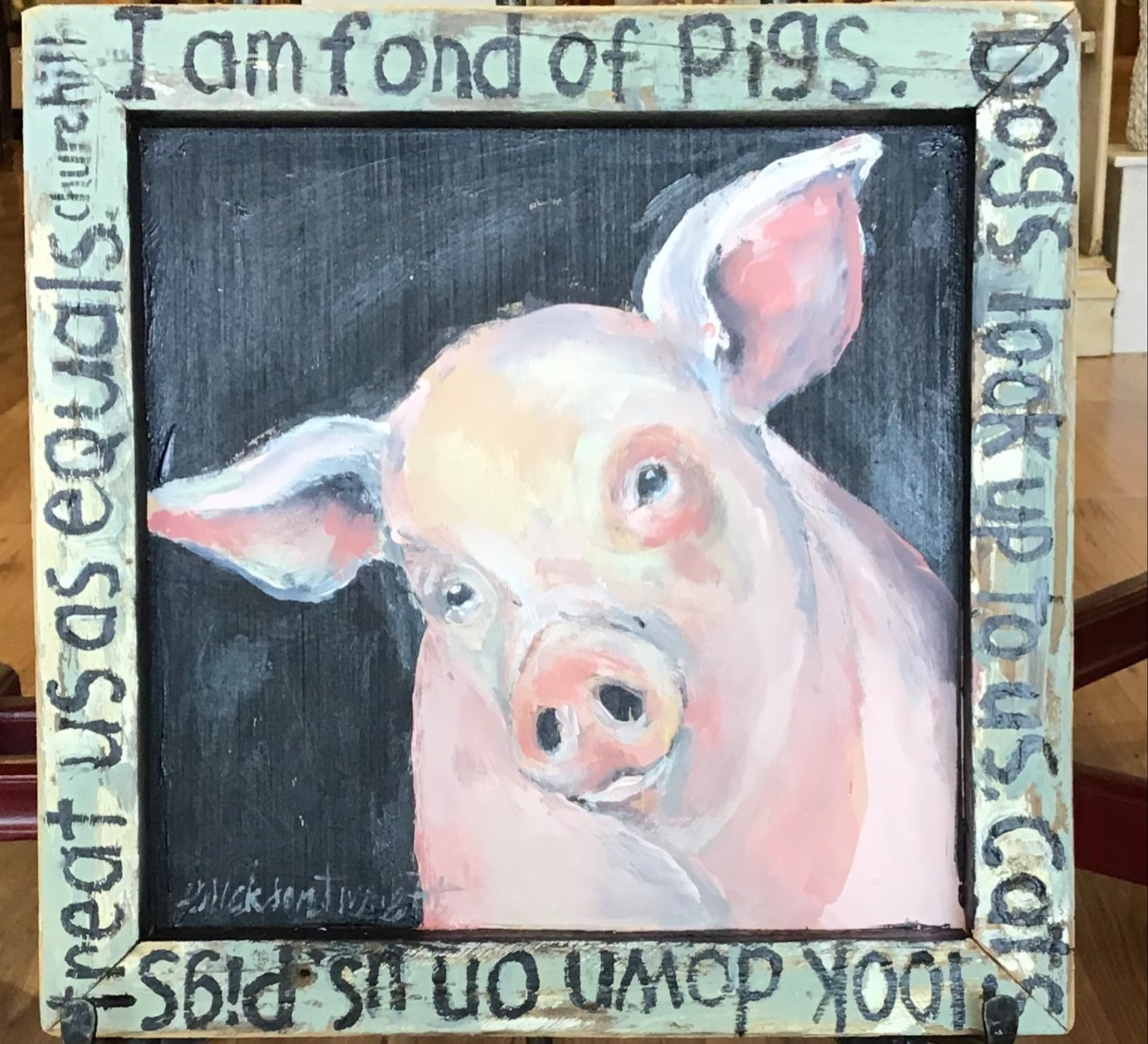 Pigs Treat Us As Equals by Sandra Erickson Wright