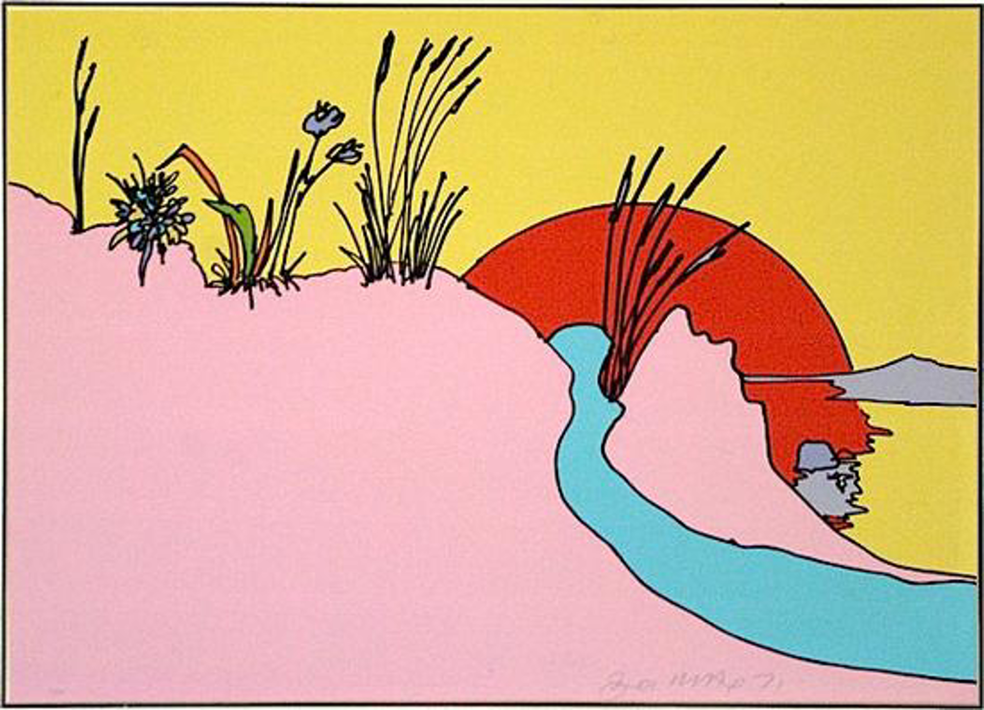 Sunshine Peace Pink by Peter Max