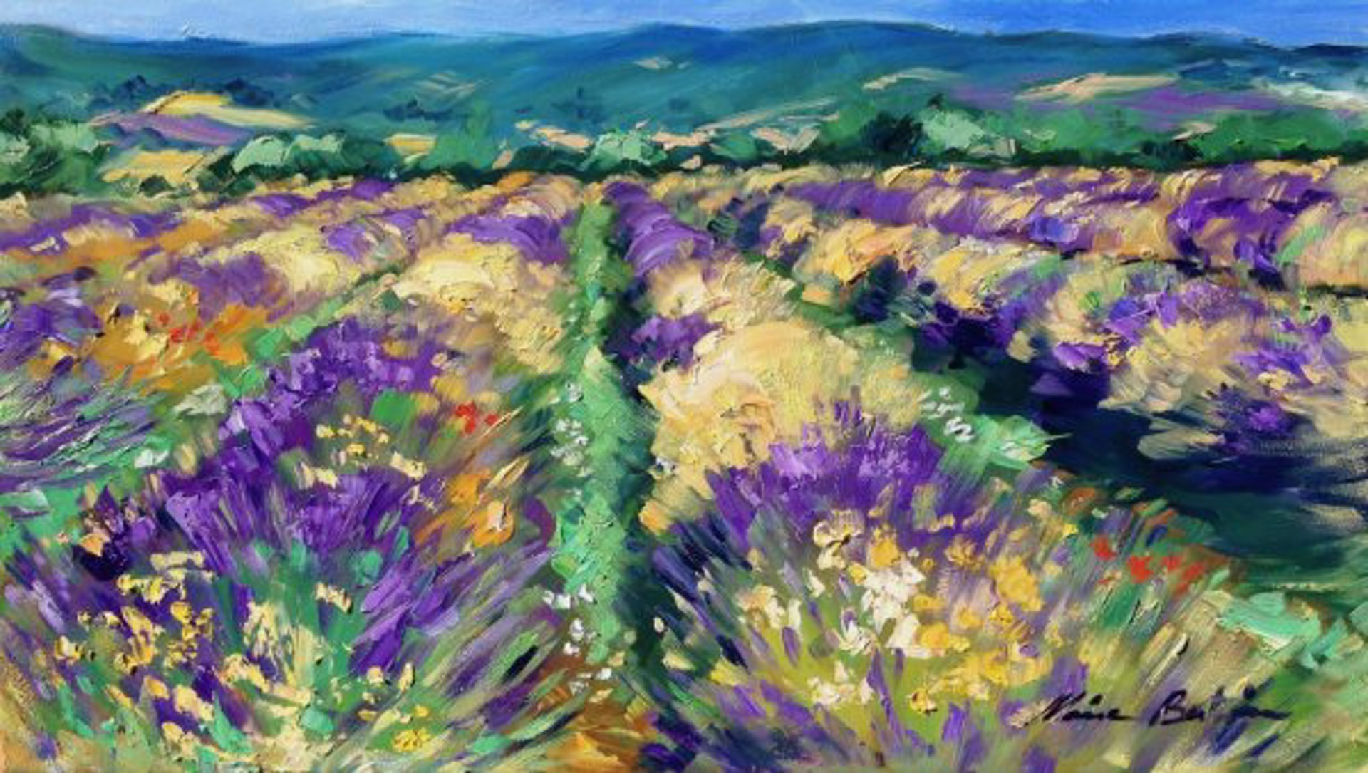 High Plains Lavender by Maria Bertrán