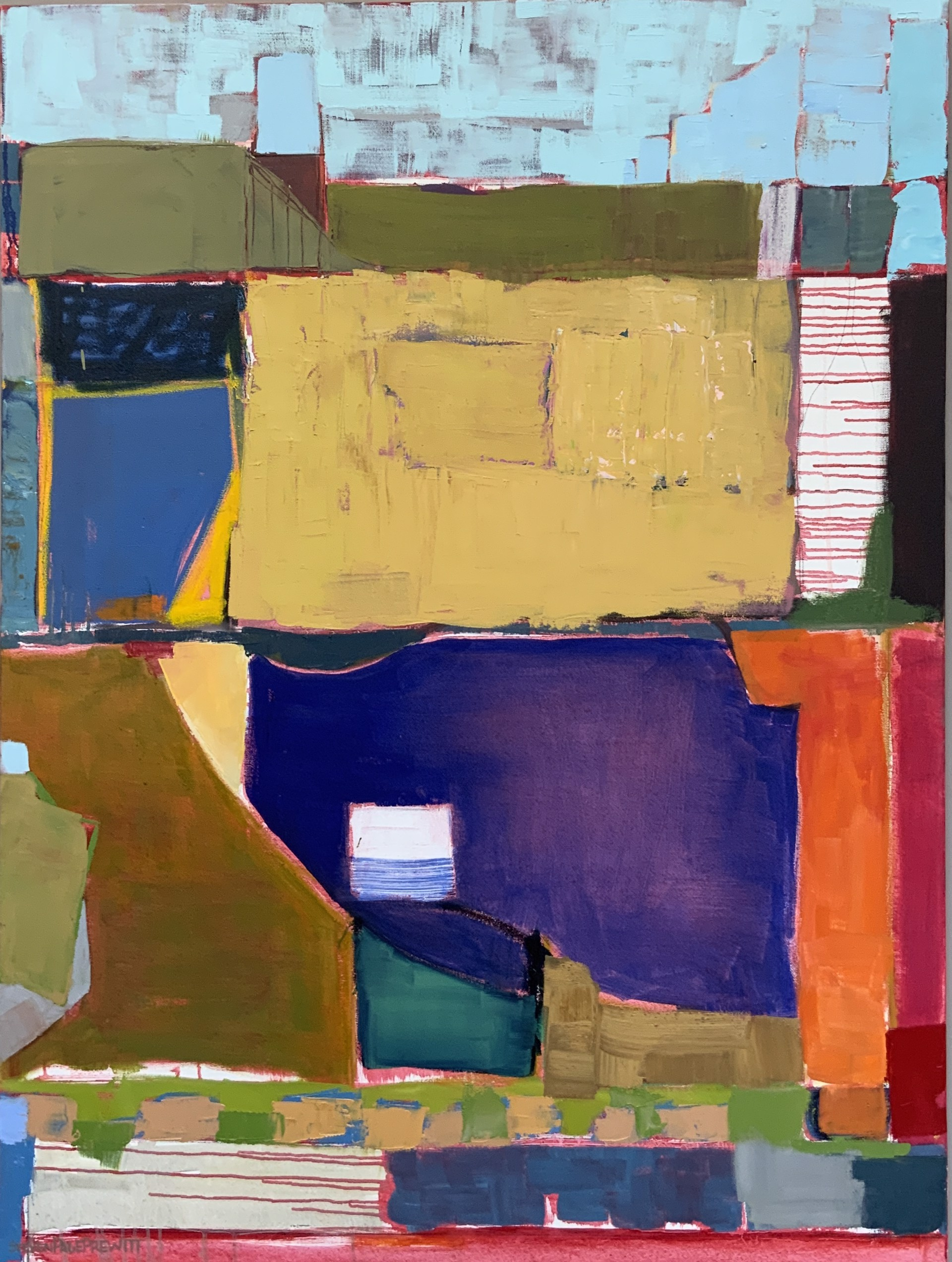 Abstract Landscape from the Air 1 by stevenpage prewitt