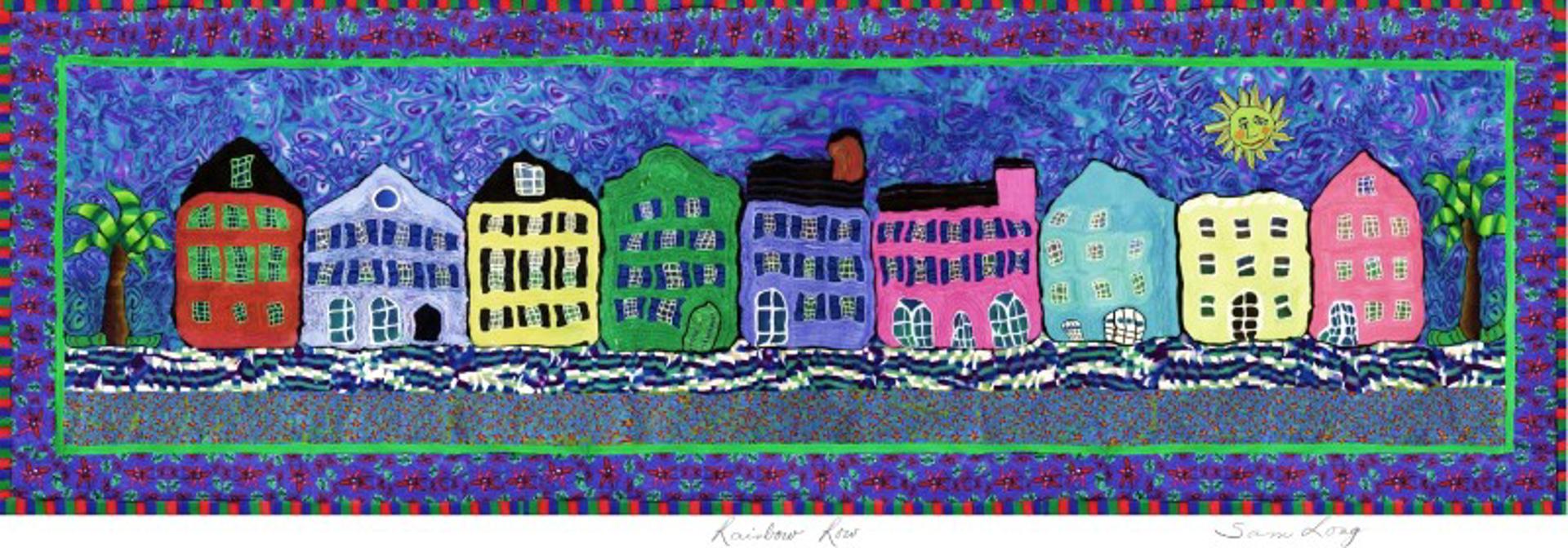 Rainbow Row by Samantha Long - Prints