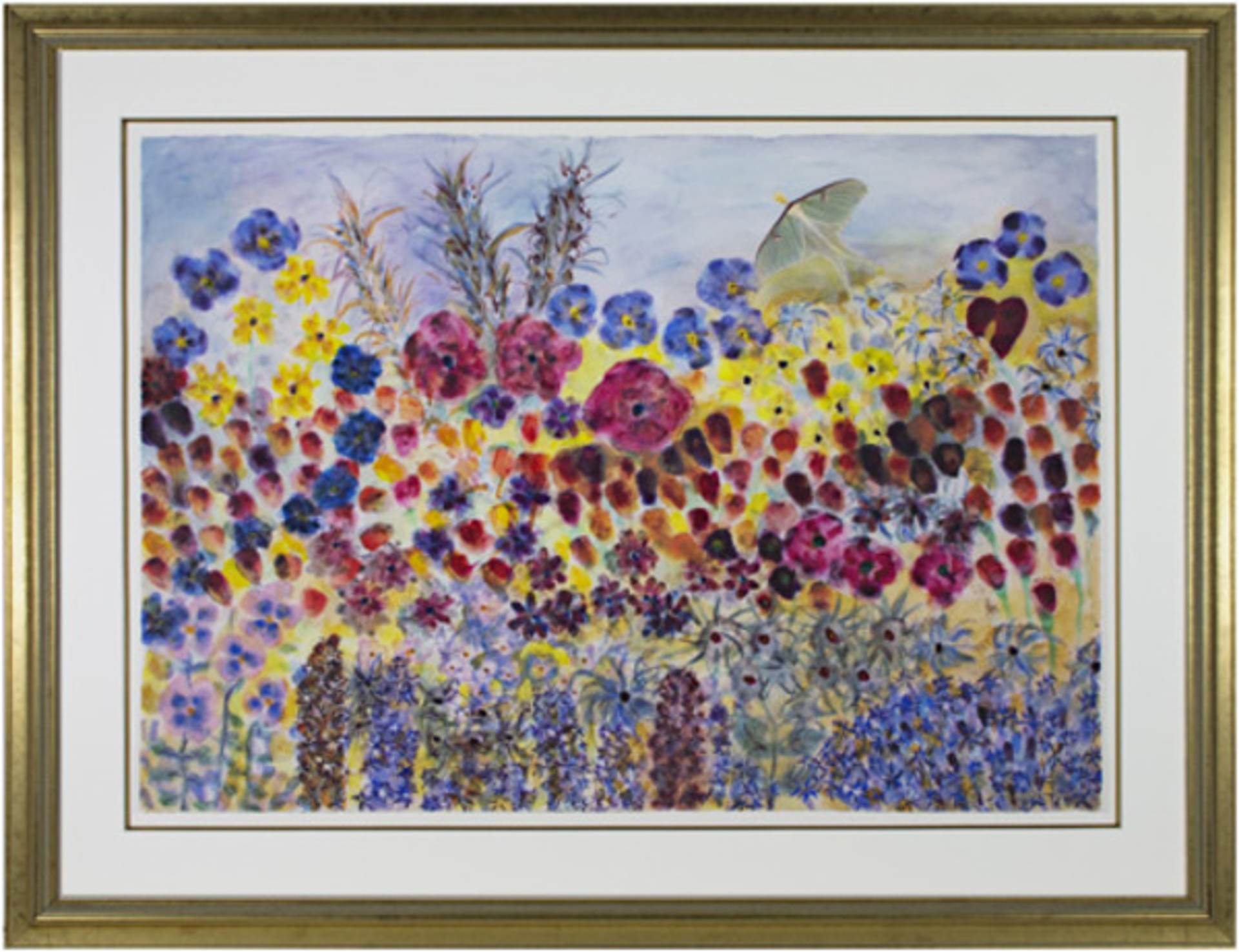 Spring Heart with Dancing Tulips and Luna Moth by David Barnett