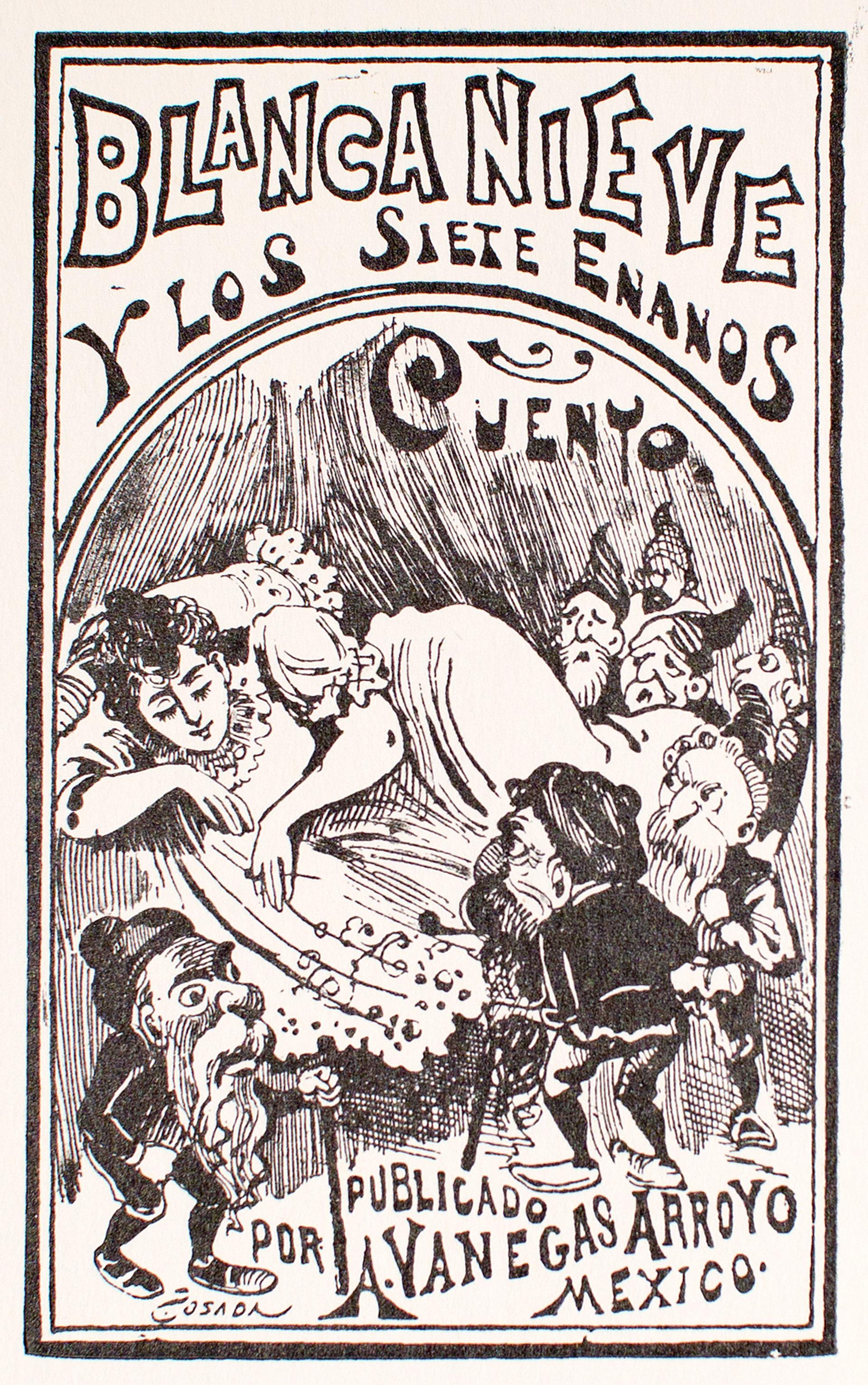 Blanca Nieve y los Siete Enanos by José Guadalupe Posada (1852 - 1913)