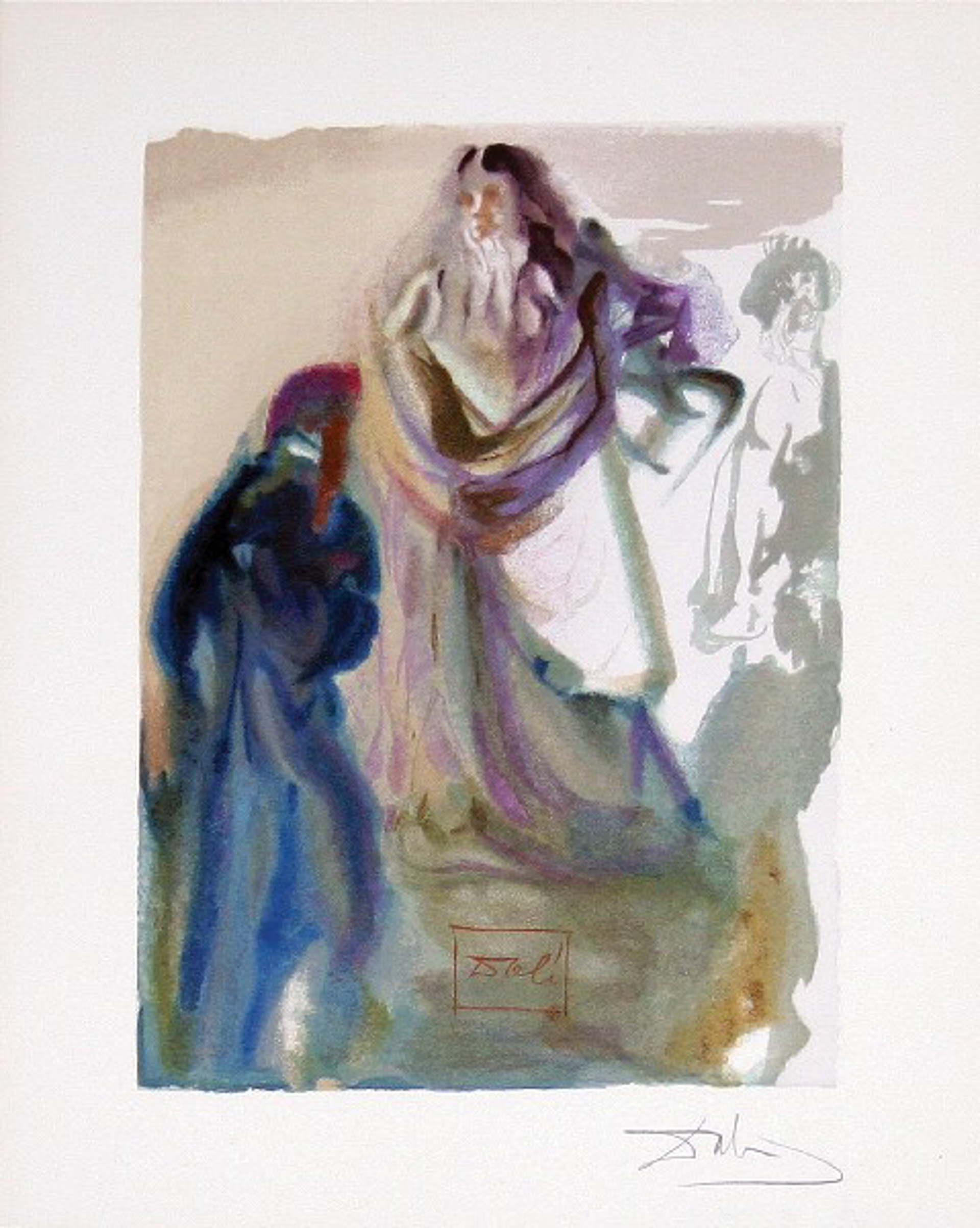 Paradise Canto 28: The Movement Toward God from The Divine Comedy by Salvador Dali (1904 - 1989)