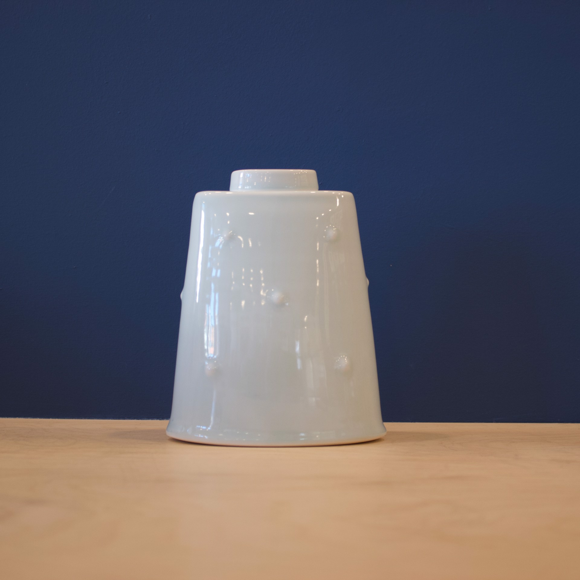 Celadon Bump Oval Ginger Jar by Patricia Thom