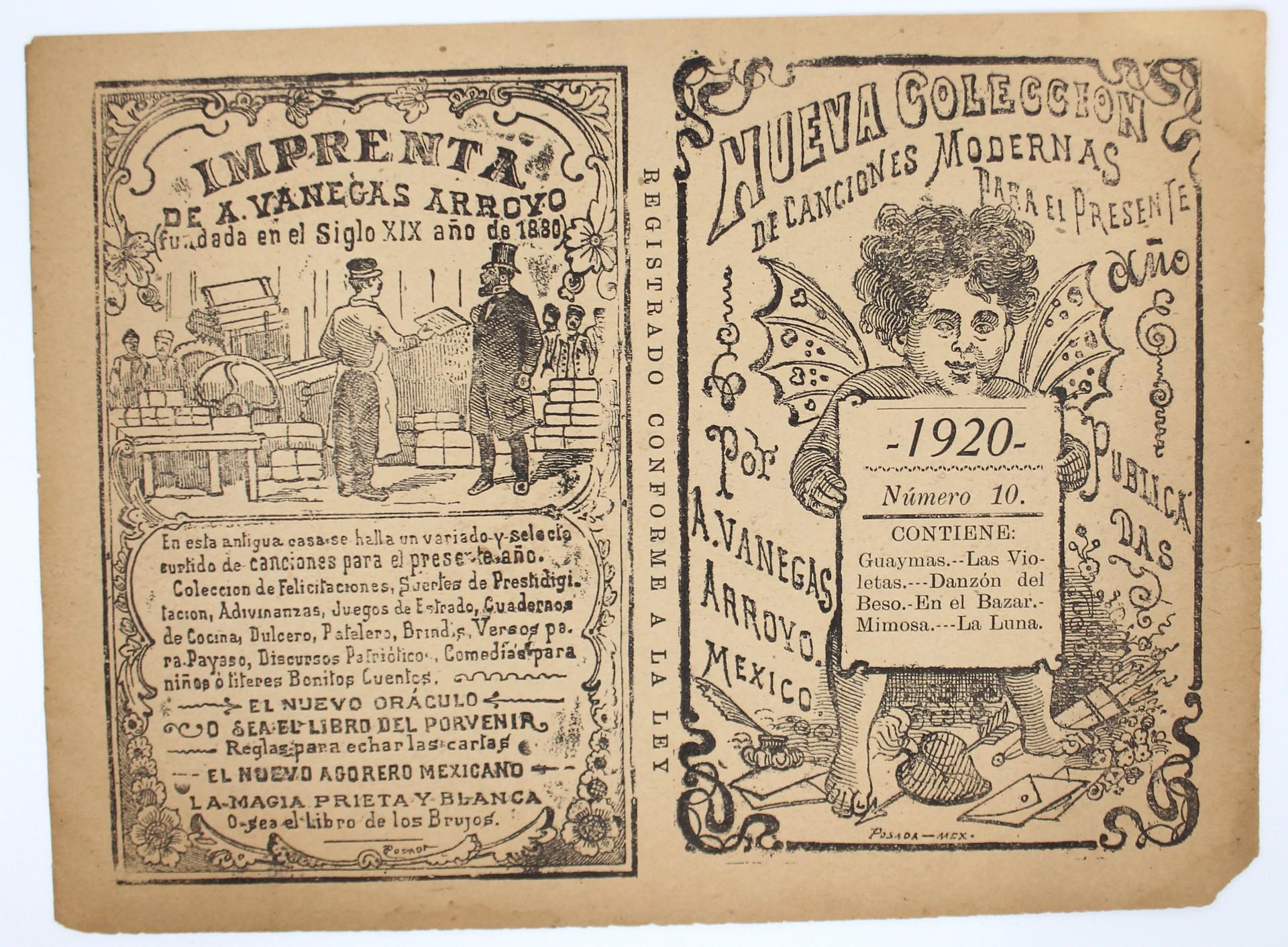 Nueva Colección de Canciones Modernas, No. 10 by José Guadalupe Posada (1852 - 1913)