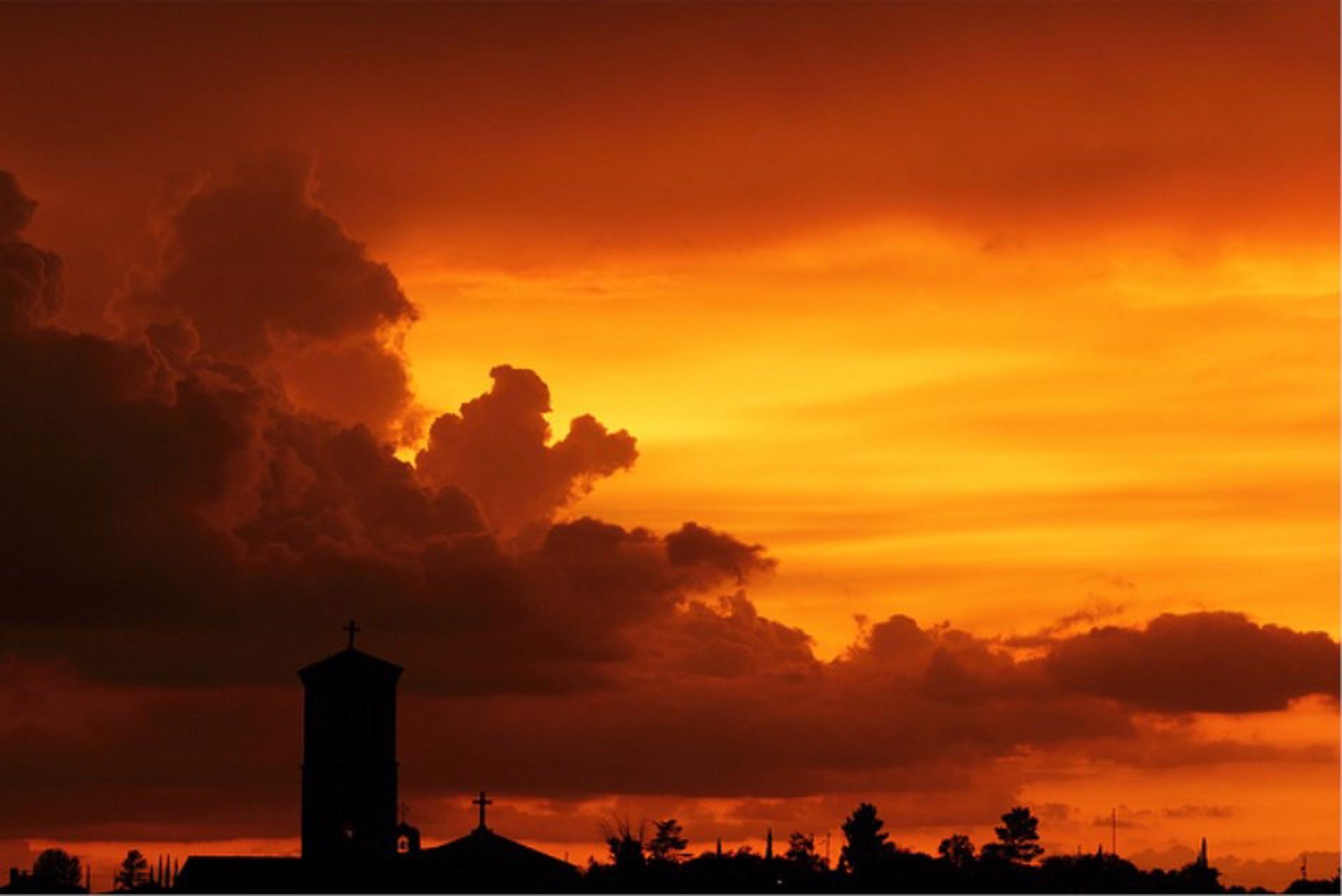 Sacred Heart Sunset by John Hays