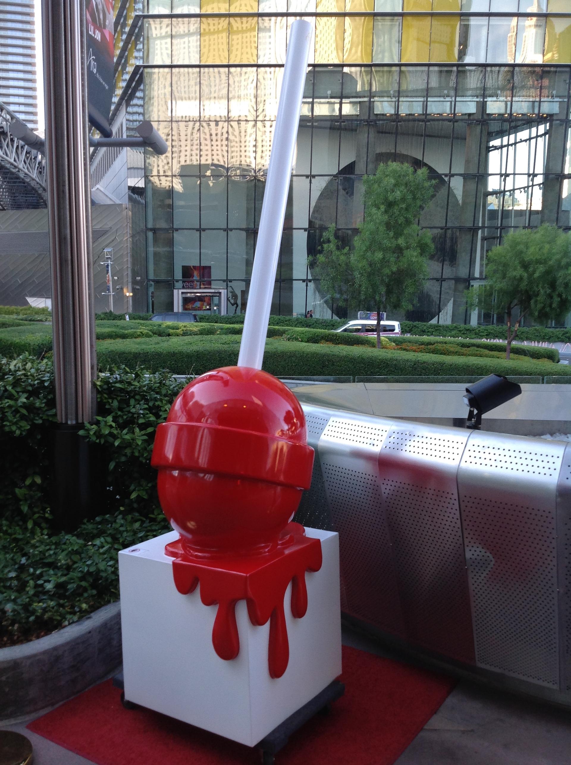 """The Sweet Life"" Large Red Lollipop by Elena Bulatova"