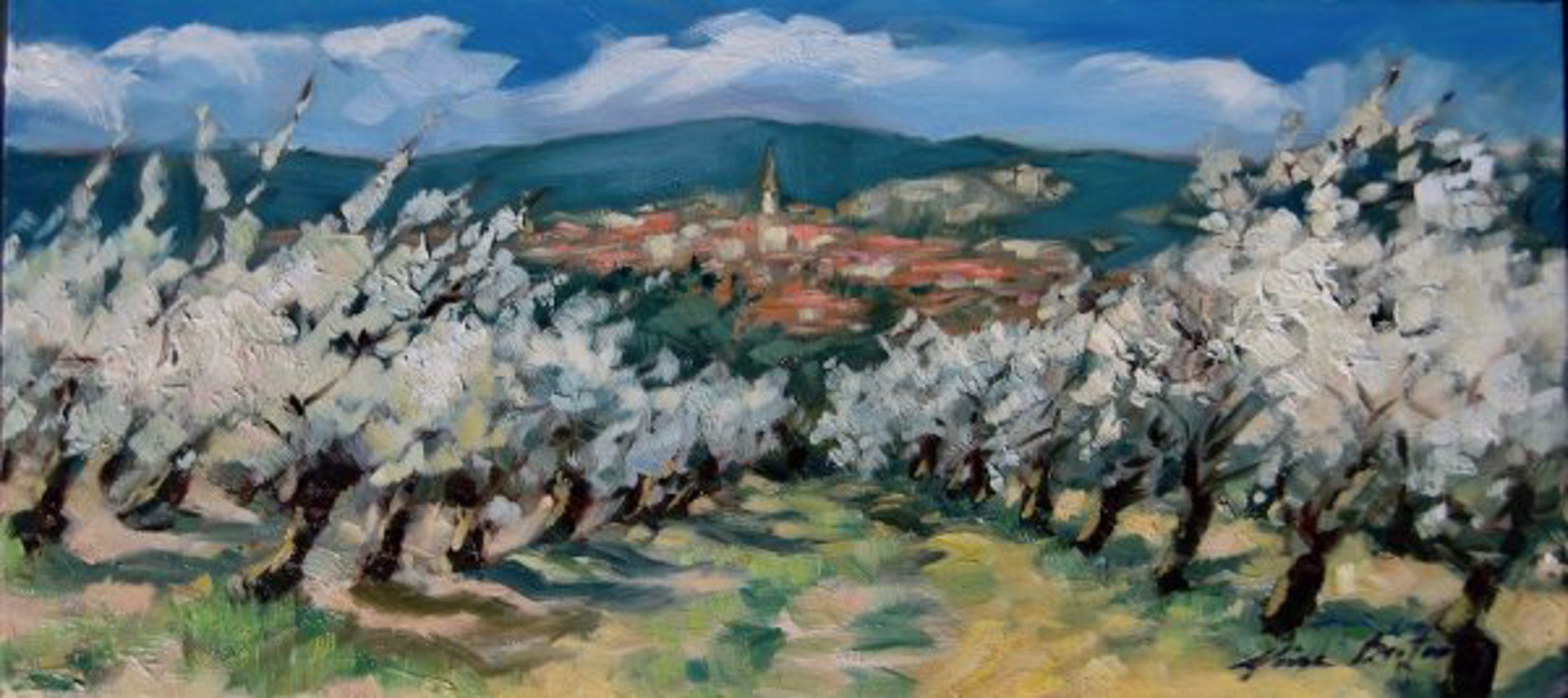 Cherry Orchard Below St. Saturnin by Maria Bertrán
