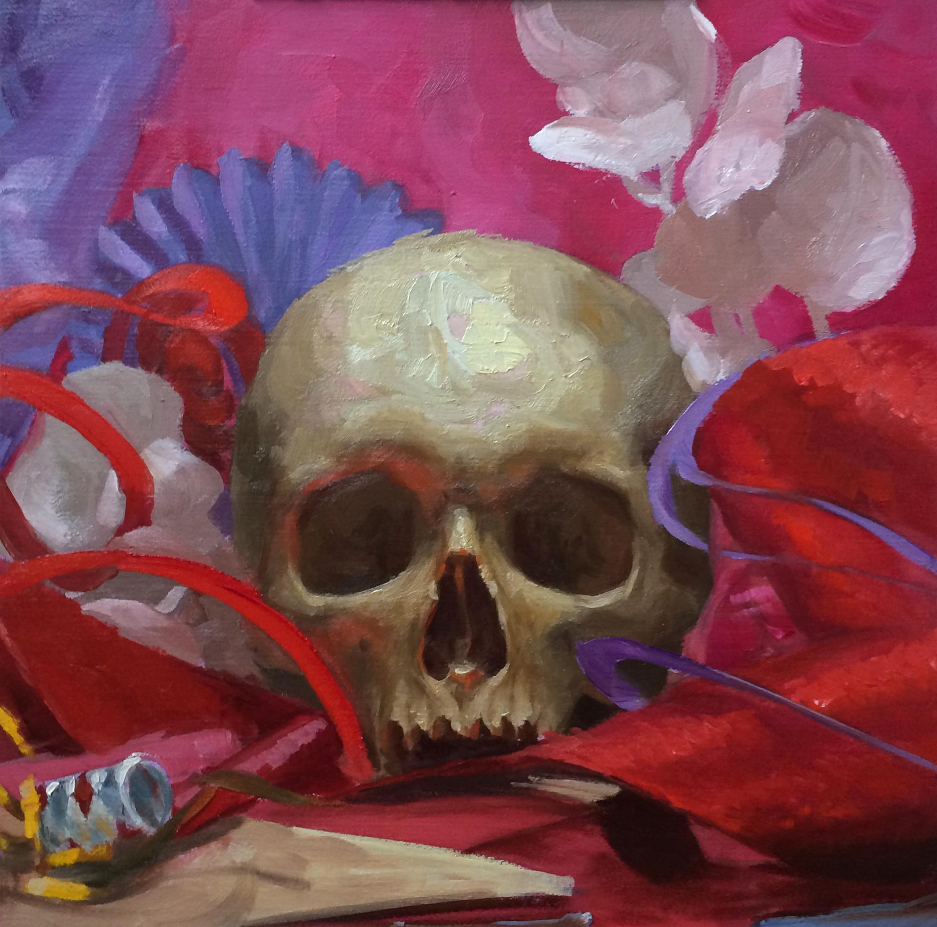 Party Skull #2 by Elizabeth Zanzinger
