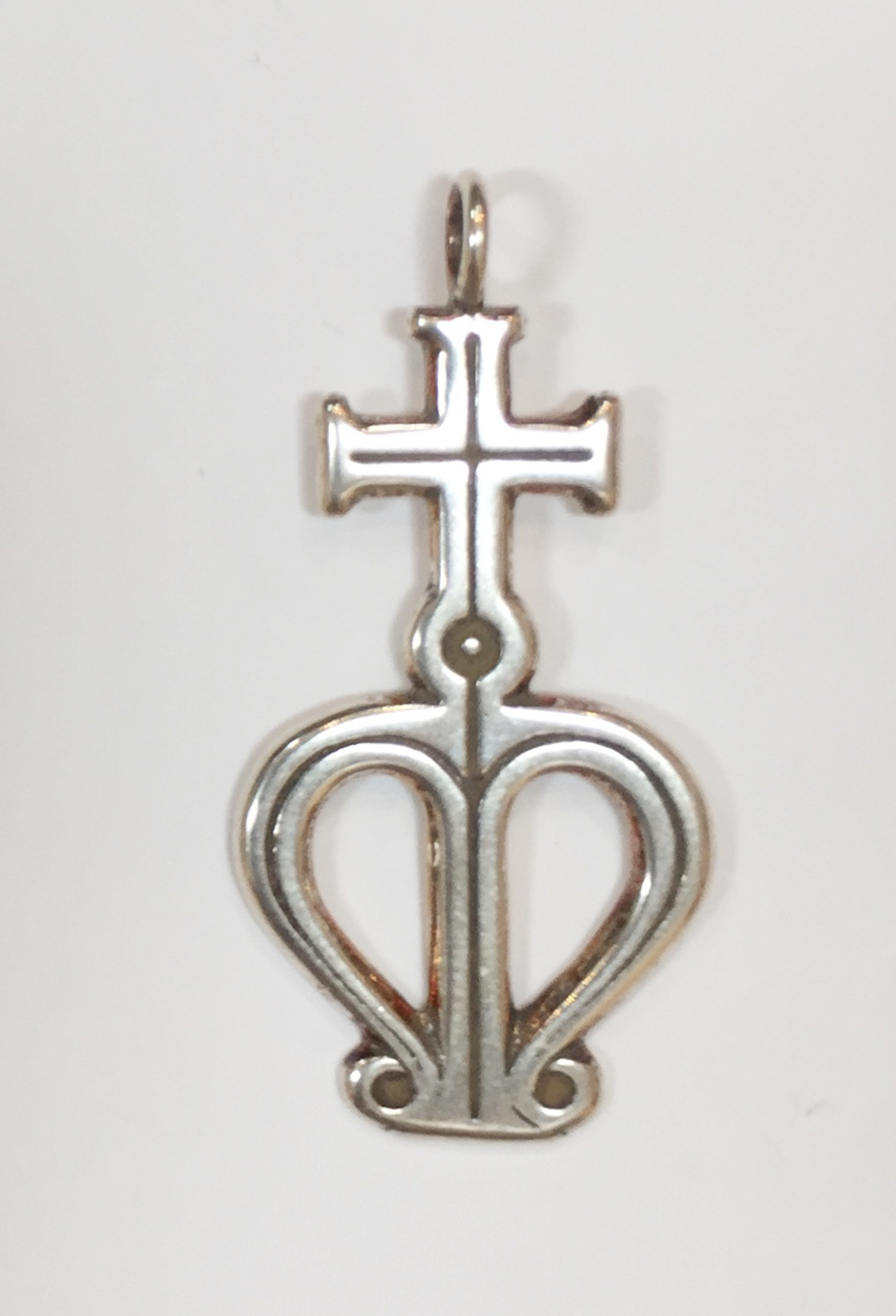 Pendant - Silver Cross Of Our Lady by Deanne McKeown