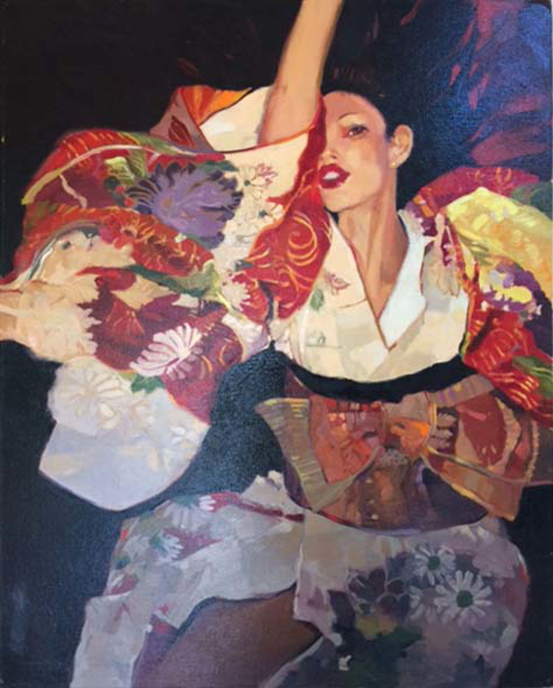 Kimono In The Wind by Darrell Hill