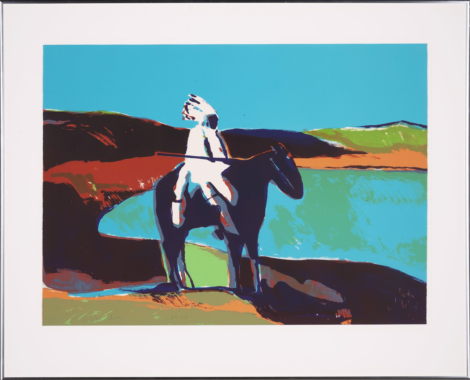Indian at the Lake by Fritz Scholder