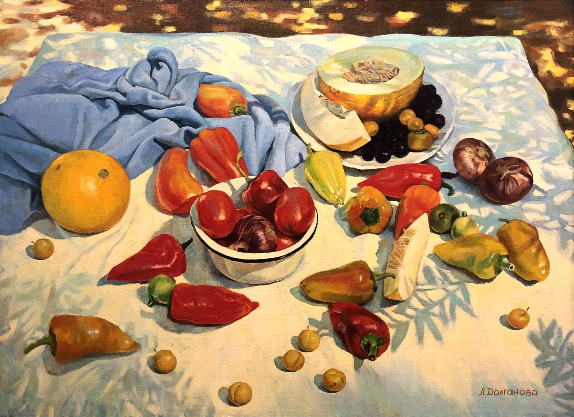 Lilia Anatolionva Dolgonova - Still Life With Peppers by Russian Artists