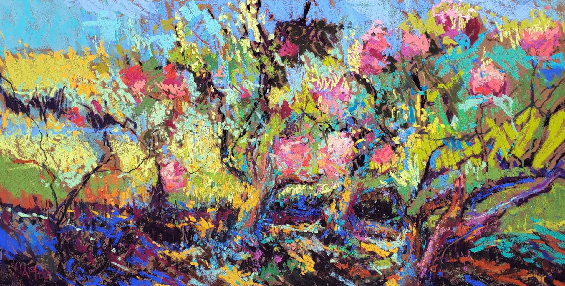 Rhodos in the Garden by Maria Marino
