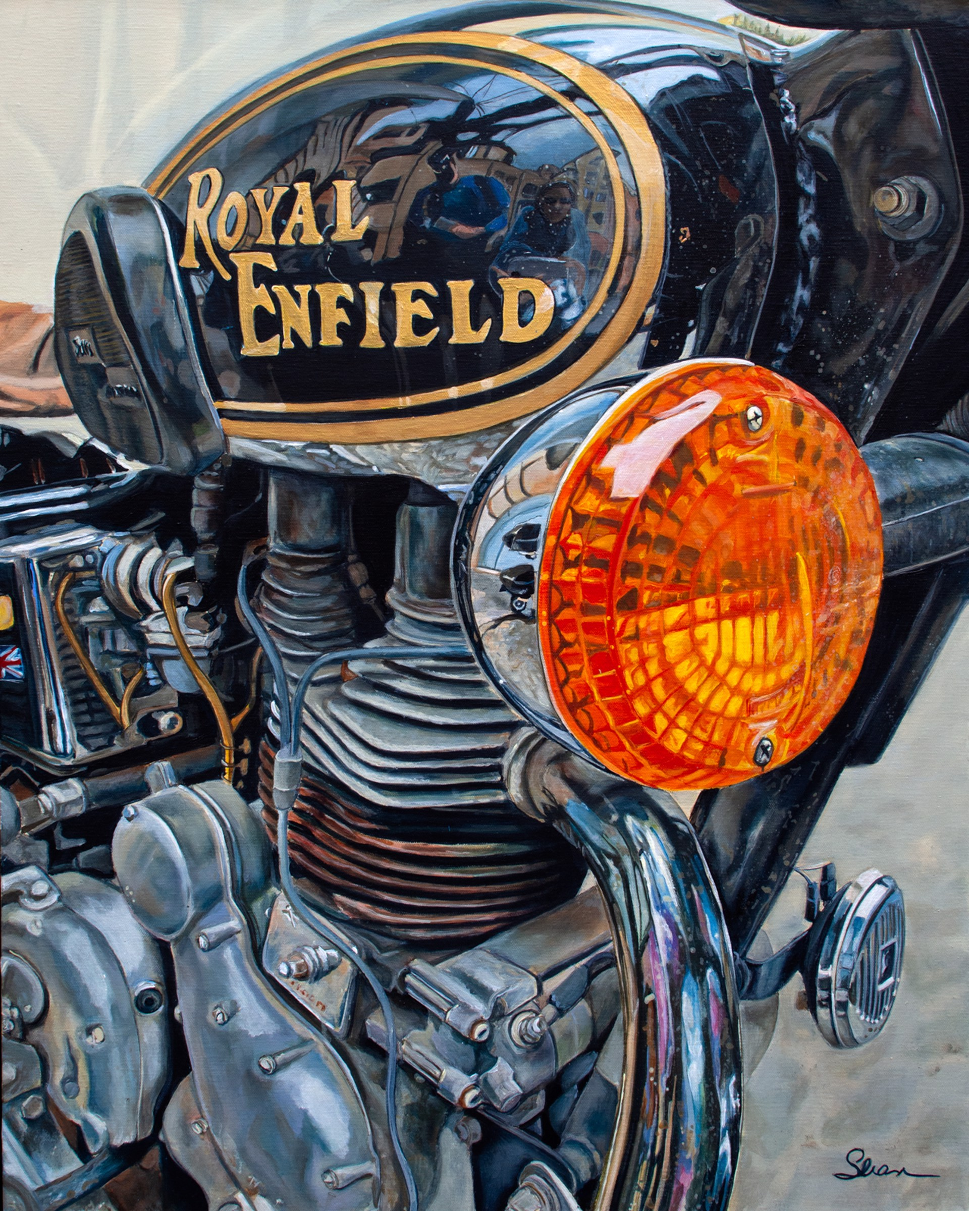 Sully's Royal Enfield by Shan Fannin