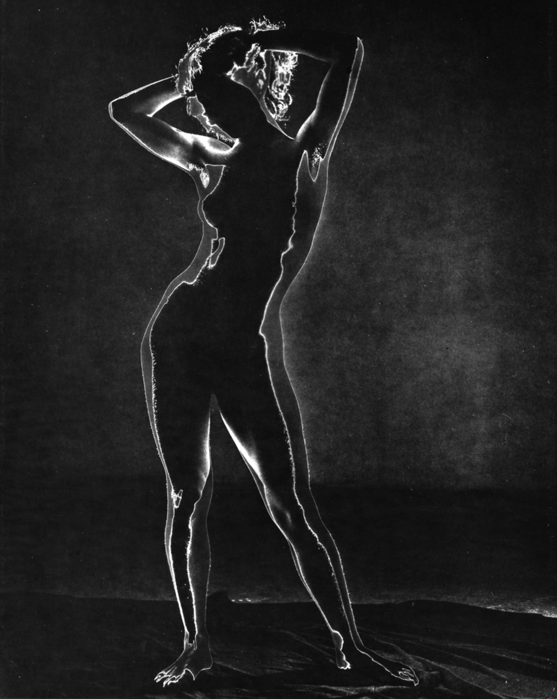 Untitled (Solarized Nude) by Andreas Feininger
