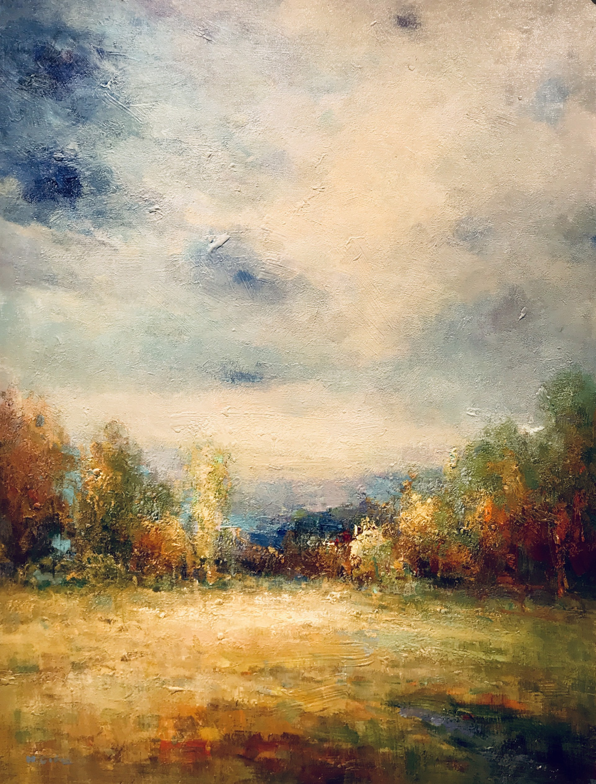 BLUE SKIES ON A FALL DAY by VARIOUS WORKS