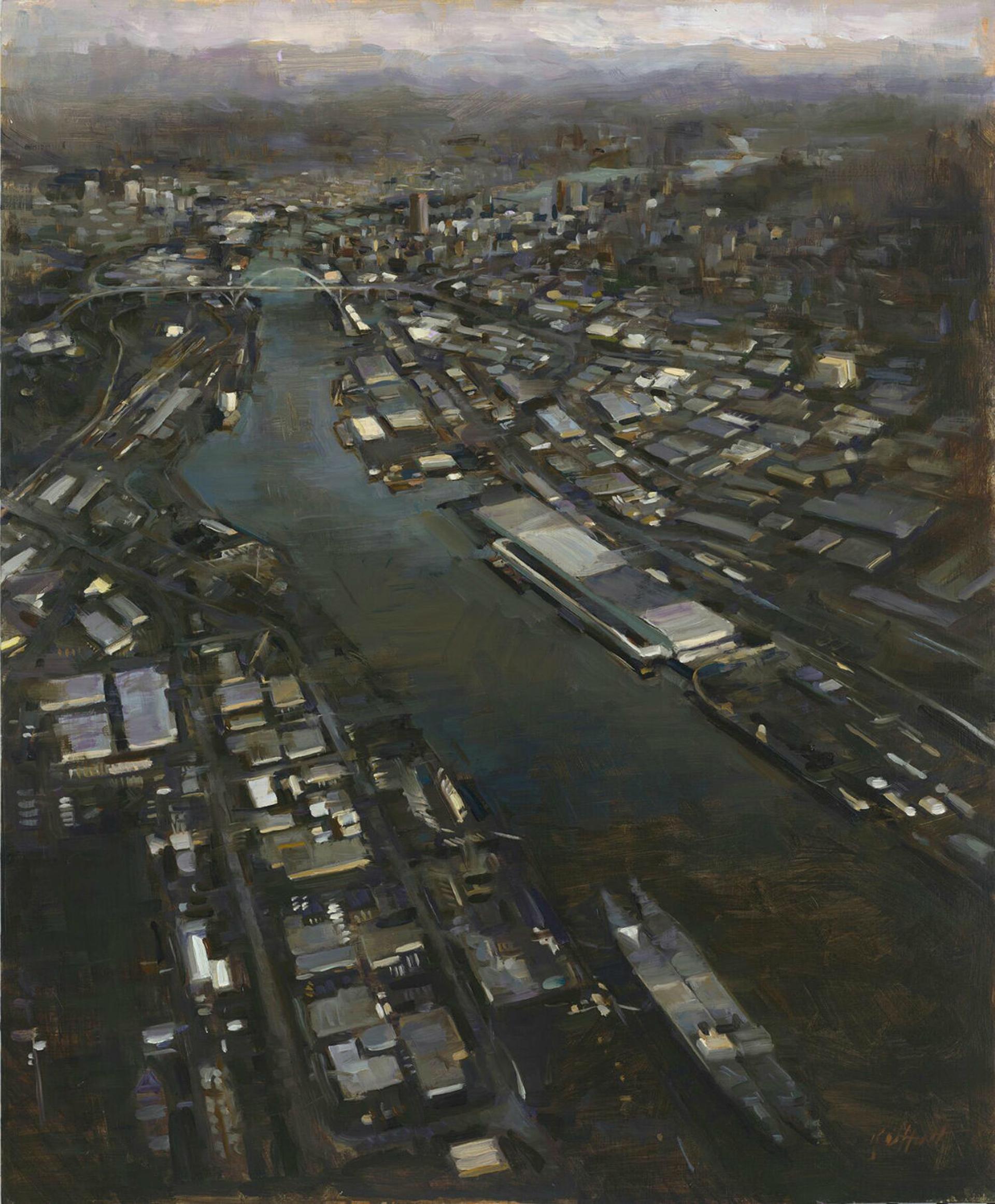 Portland Skyscape by Karen Offutt