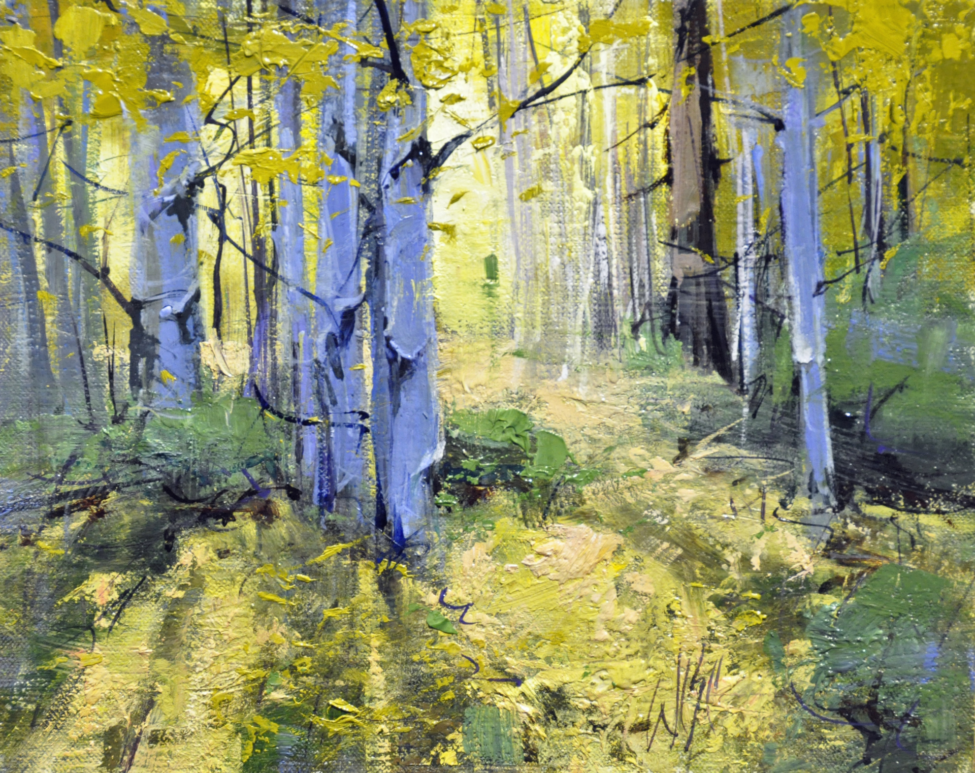 Yellow Woods I by Mike Wise
