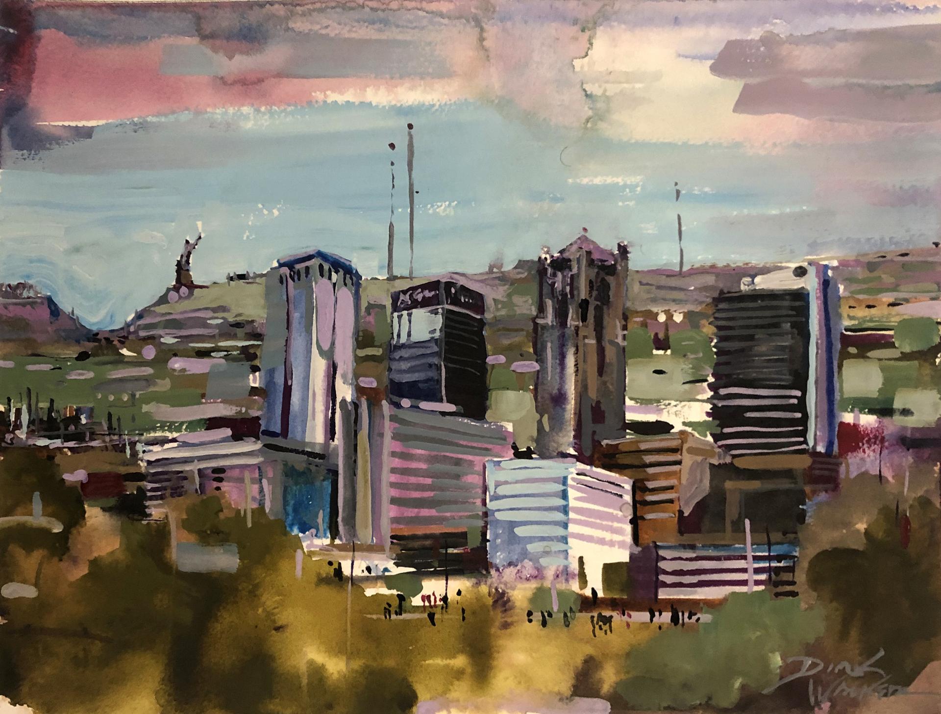 Birmingham's Financial District by Dirk Walker