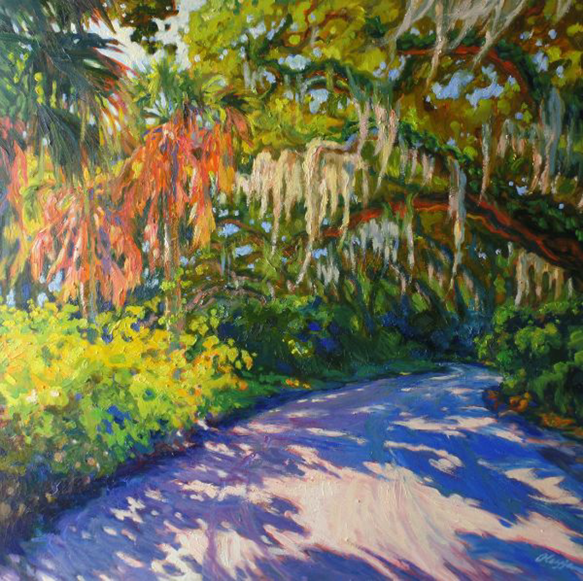 Palms Moss Pass by Olessia Maximenko