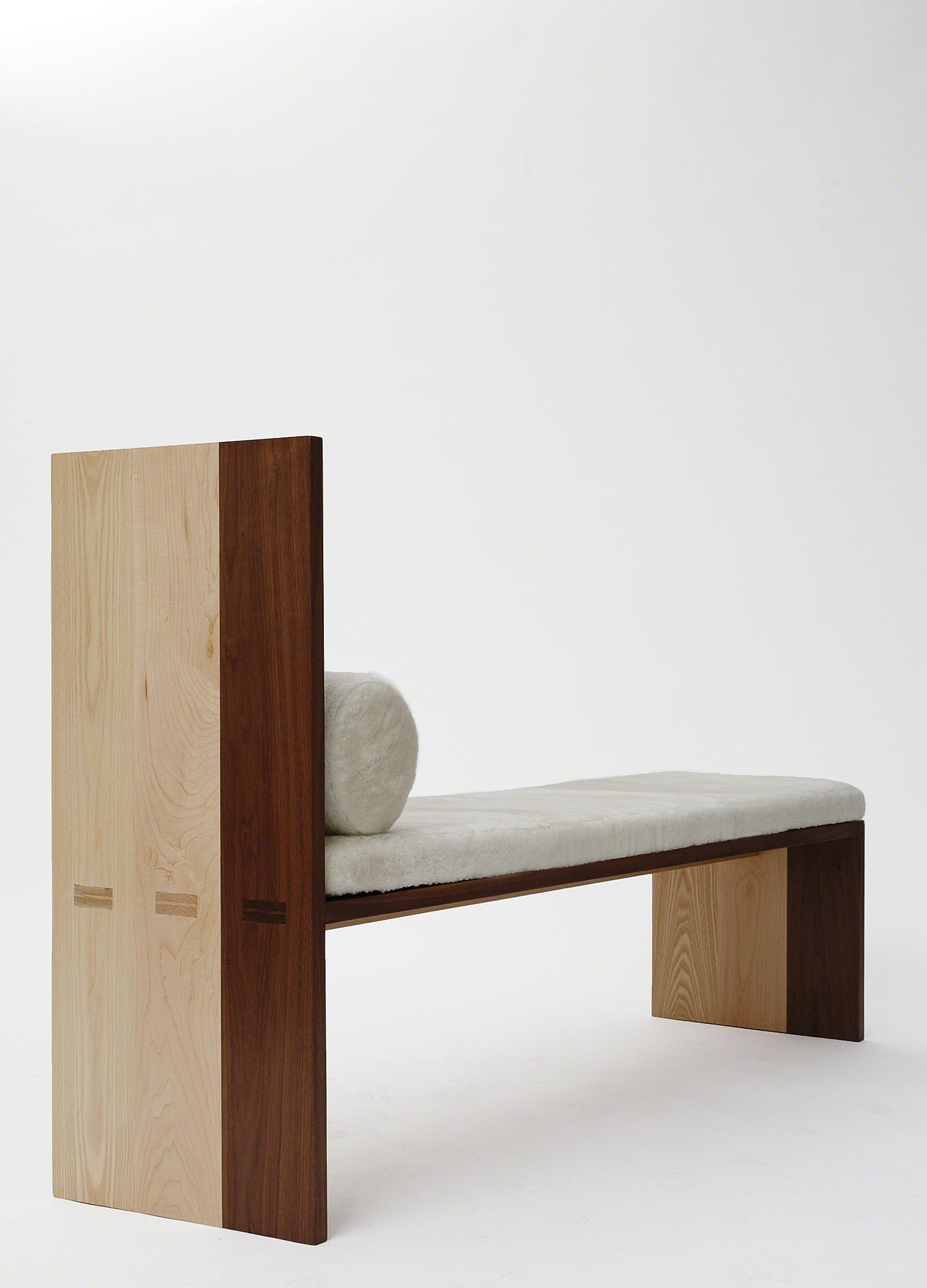 Maple Ash Walnut Bench  by Tinatin Kilaberidze