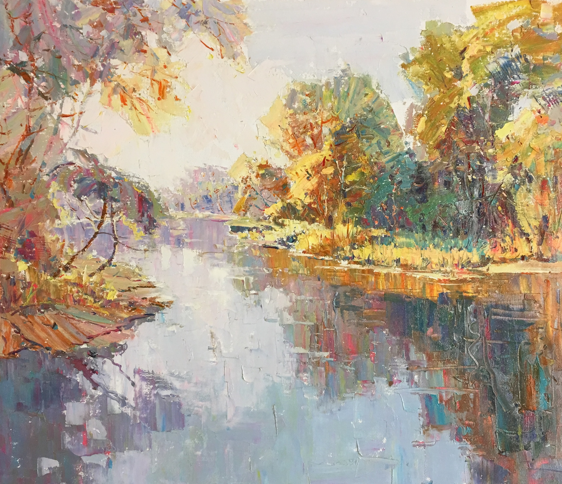 WINDING RIVER THROUGH BRIGHT TREES by VARIOUS WORKS