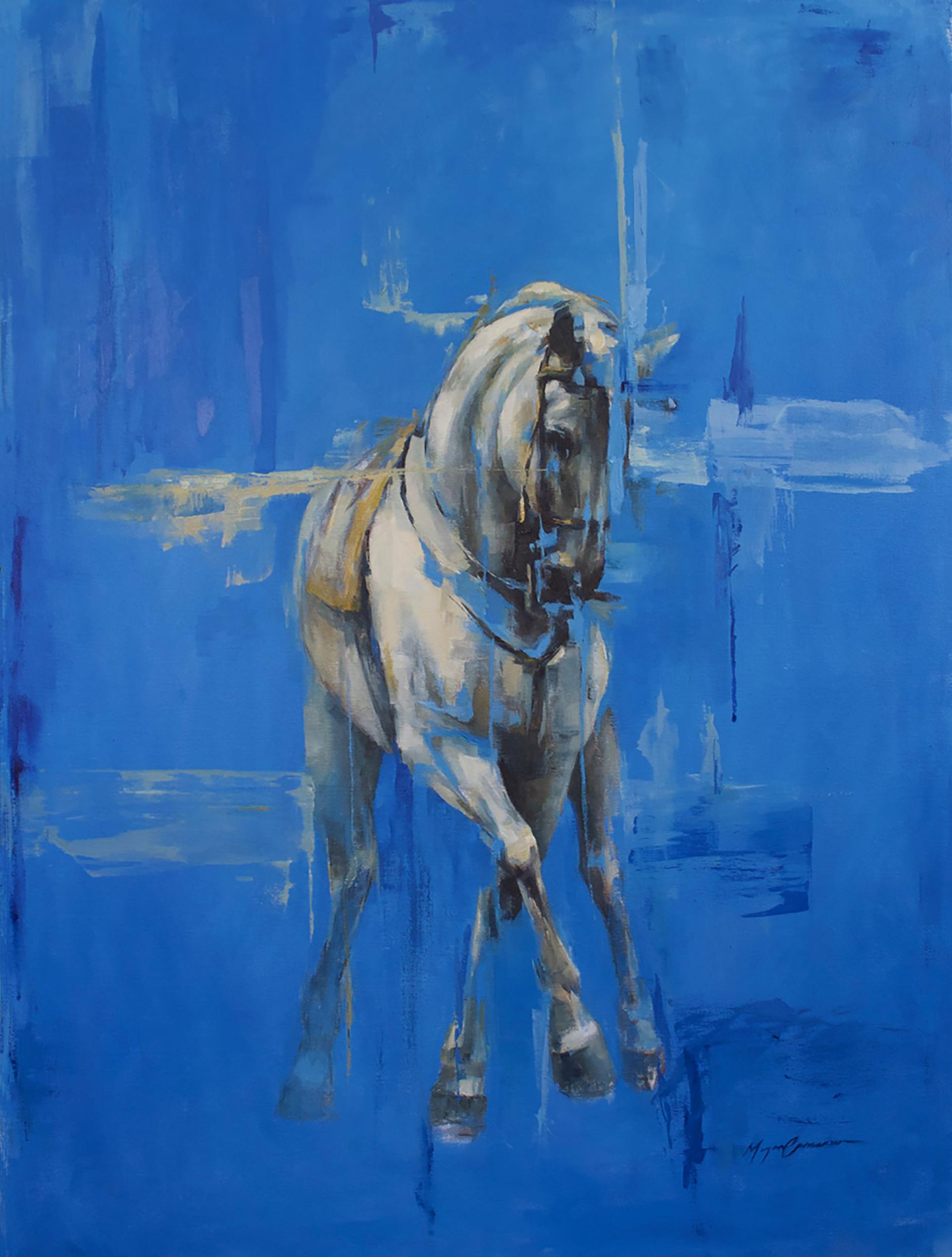 Baroque on Blue by Morgan Cameron