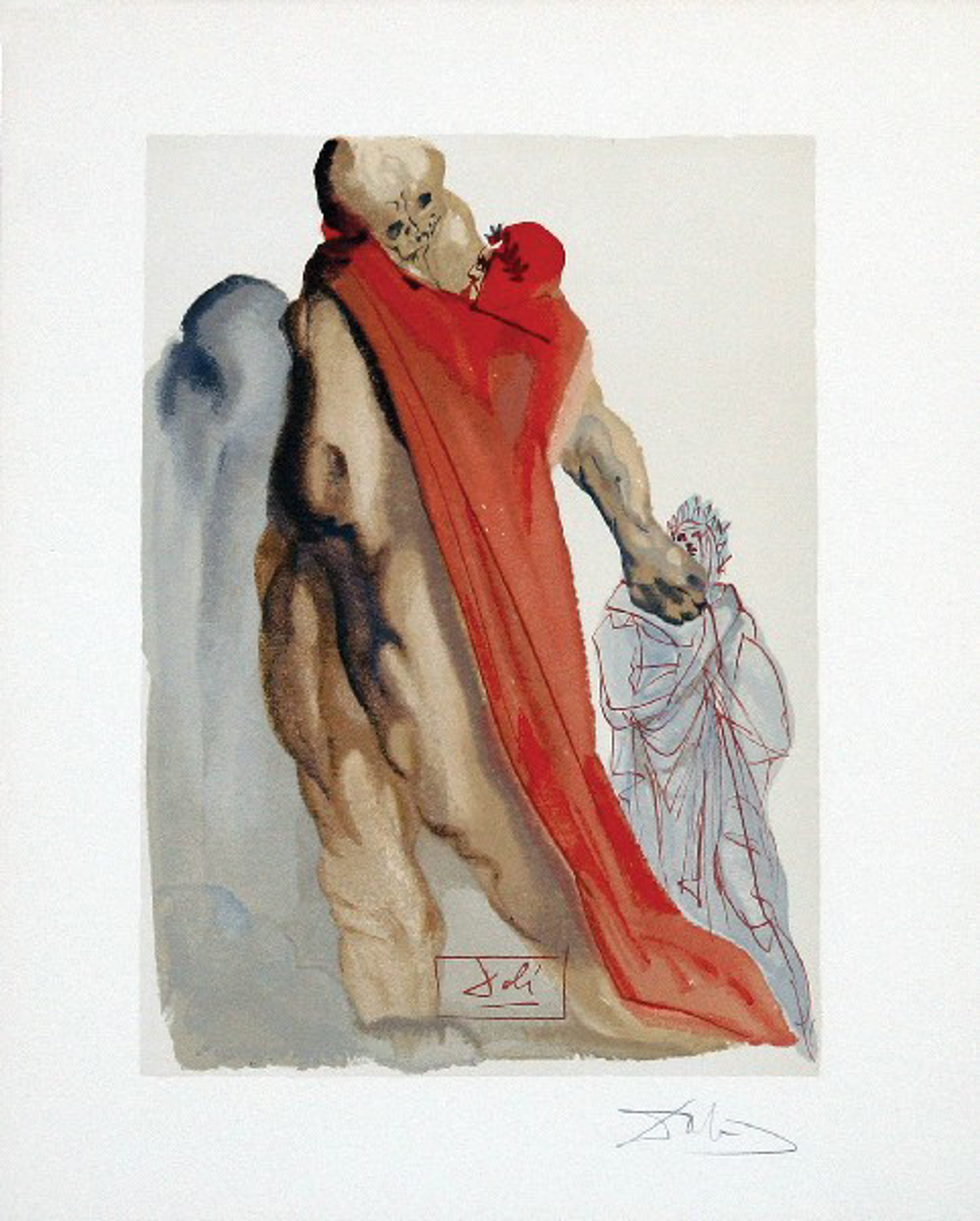 Purgatory Canto 5: Virgil Reproaches from The Divine Comedy by Salvador Dali (1904 - 1989)