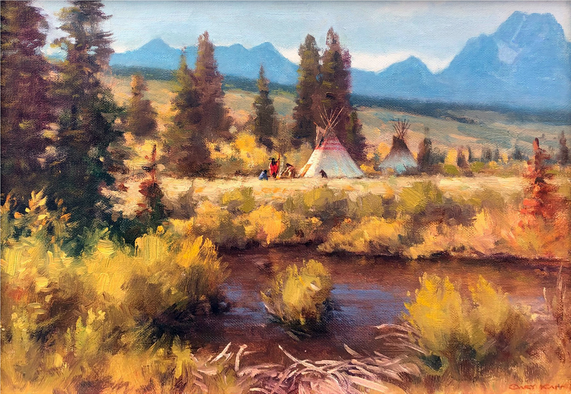 Gros Ventre Camp by Gary Kapp