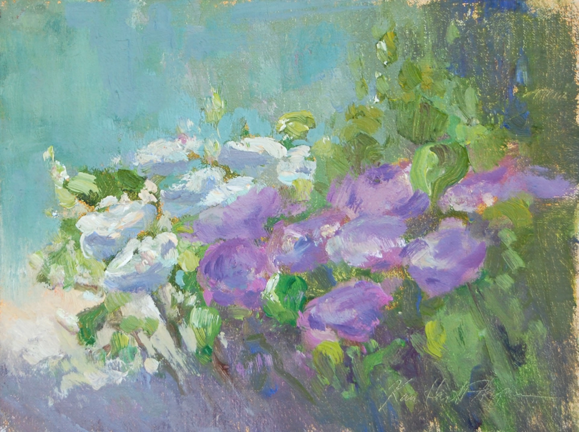 Flowers in the Garden, Tuscany by Karen Hewitt Hagan