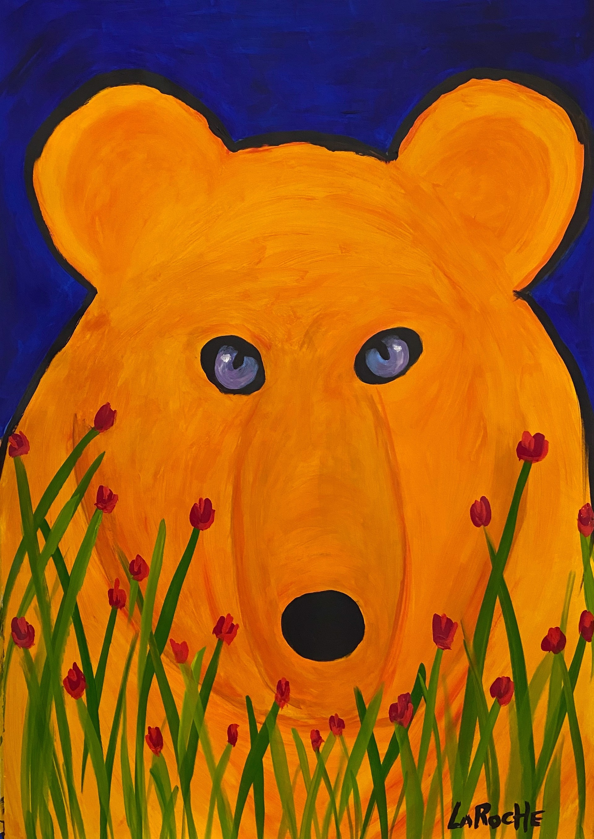 In the Garden: Honey Bear by Carole LaRoche