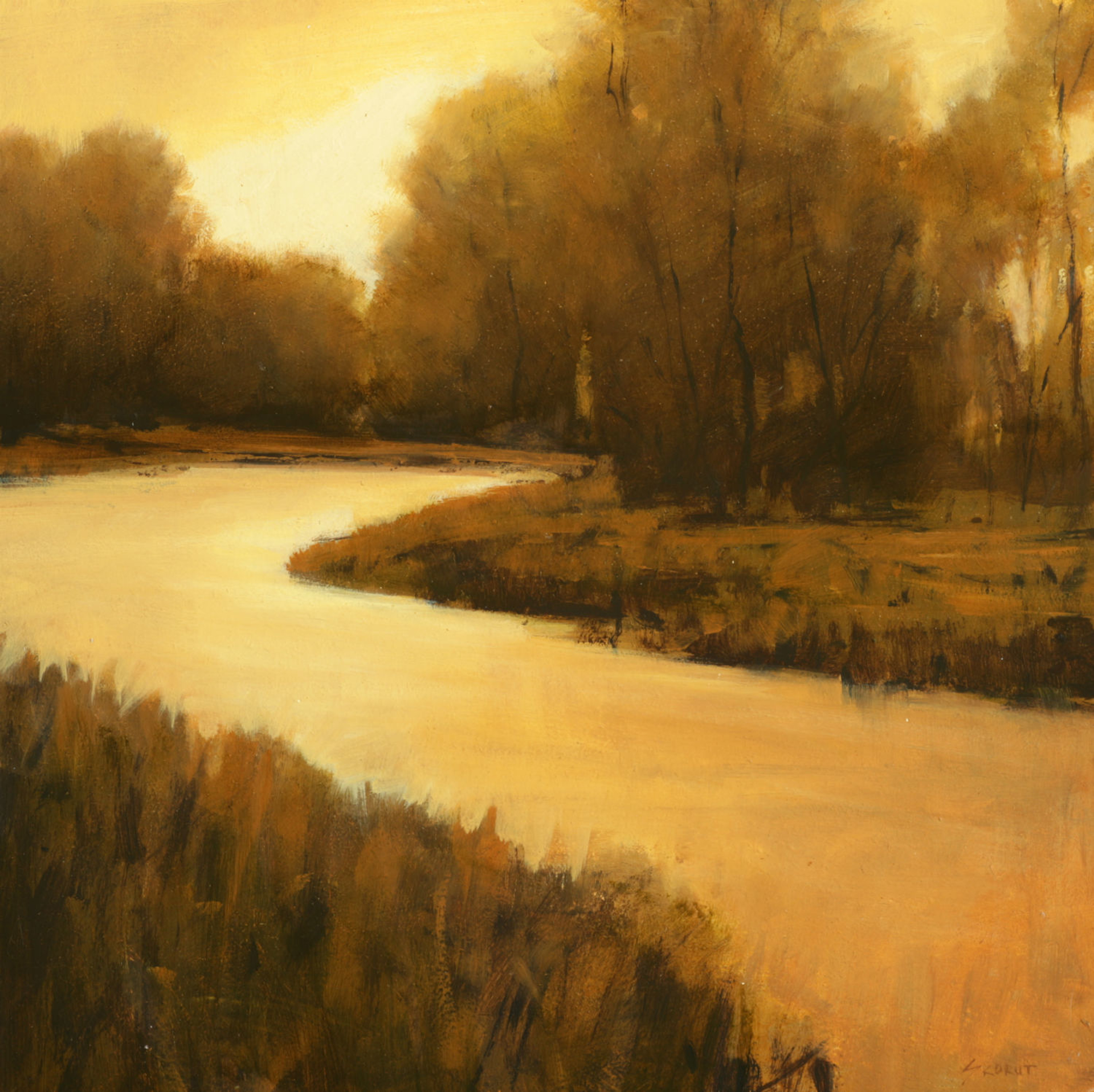 Bend of the River by Andrzej Skorut