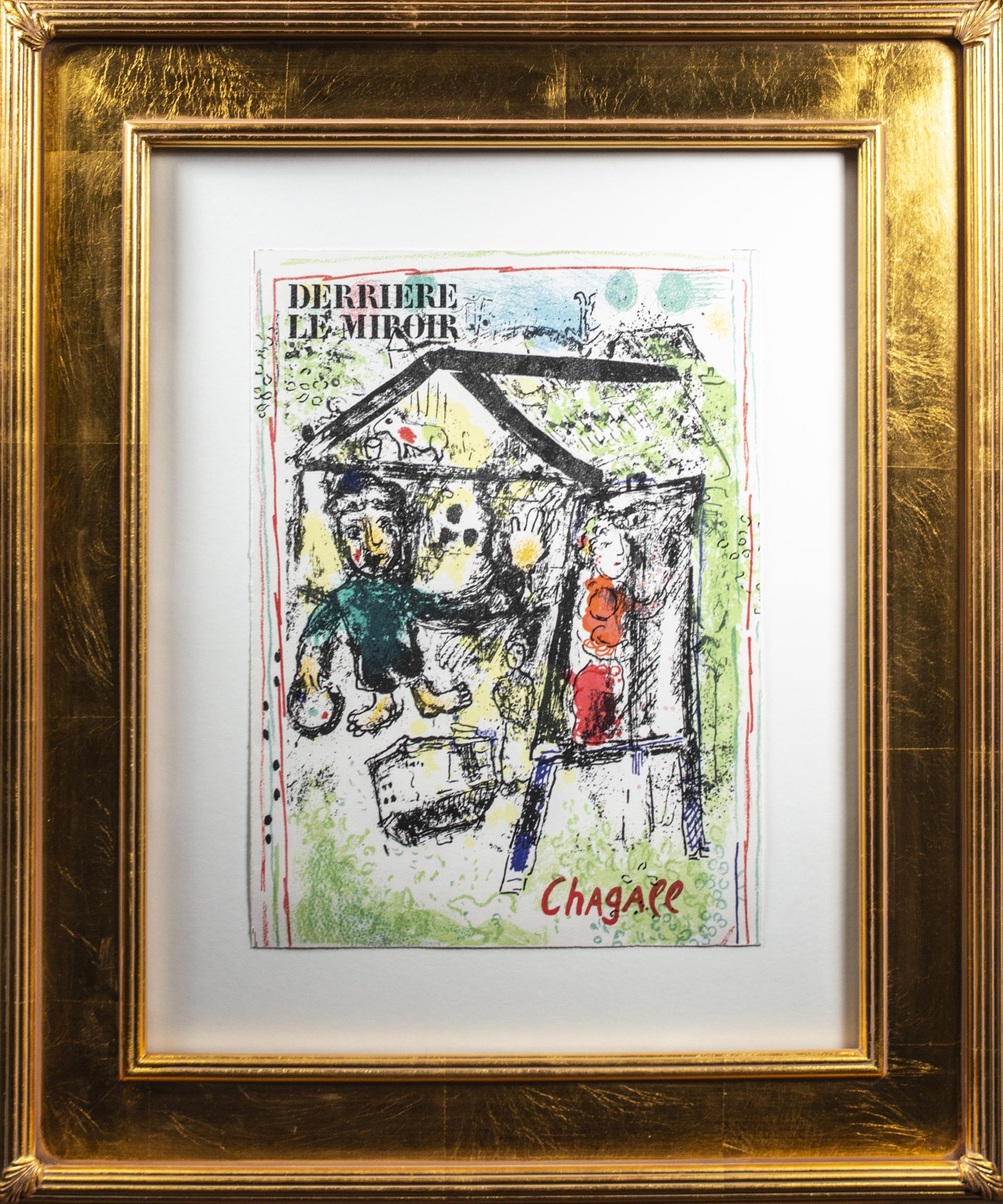 Derièrre le Miroir, Couverture: La Peintre devant le Village I (Cover of Dèrriere le Miroir No. 182: The Artist at the Village I) M 603a by Marc Chagall