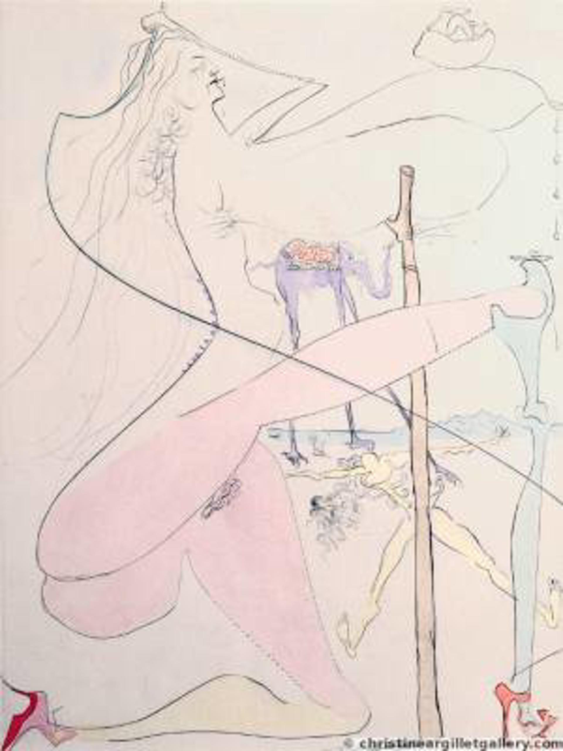 "Venus in Furs  ""Woman w. Crutch"" by Salvador Dali"