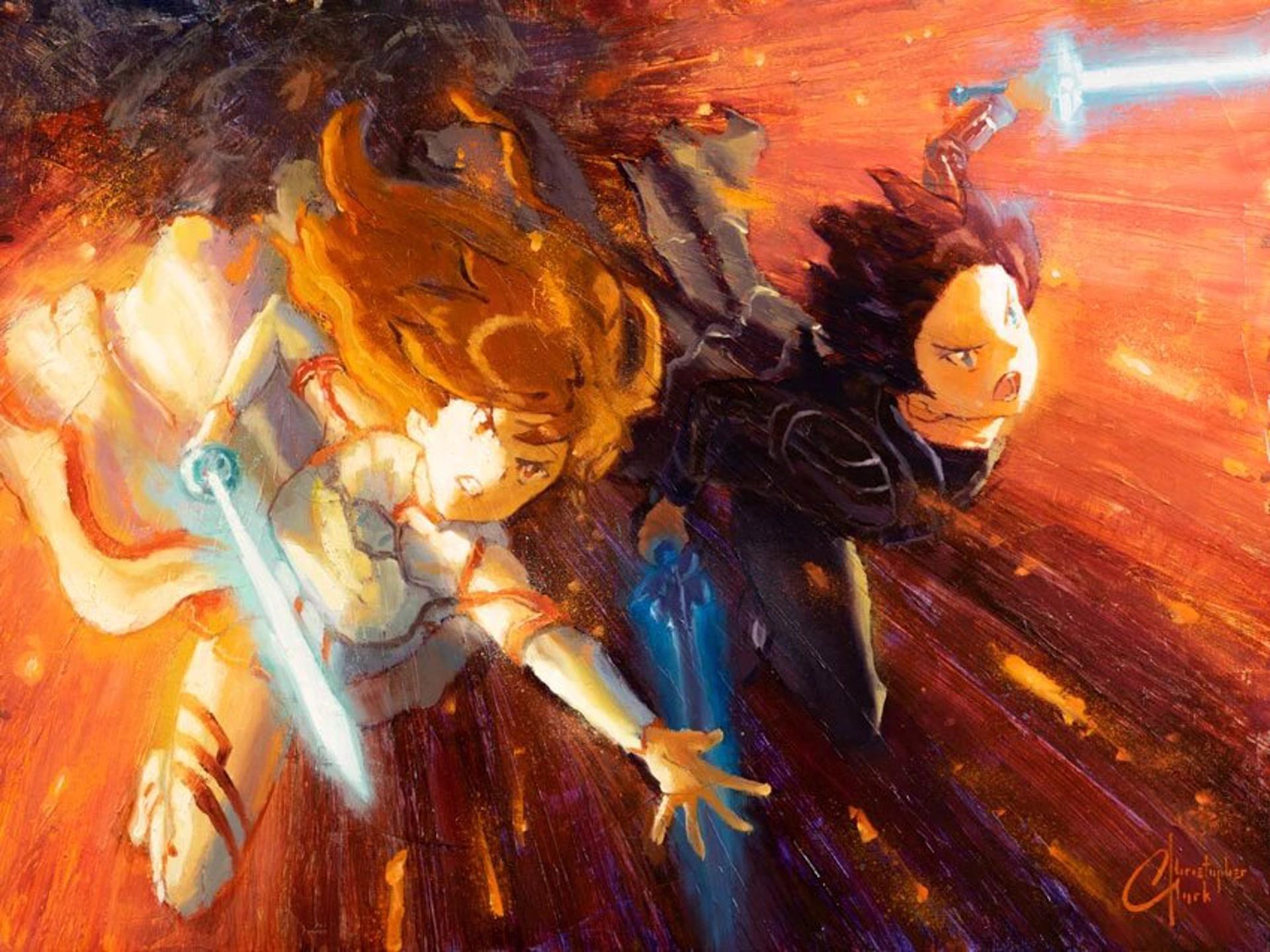 Asuna and Kirito by Christopher Clark