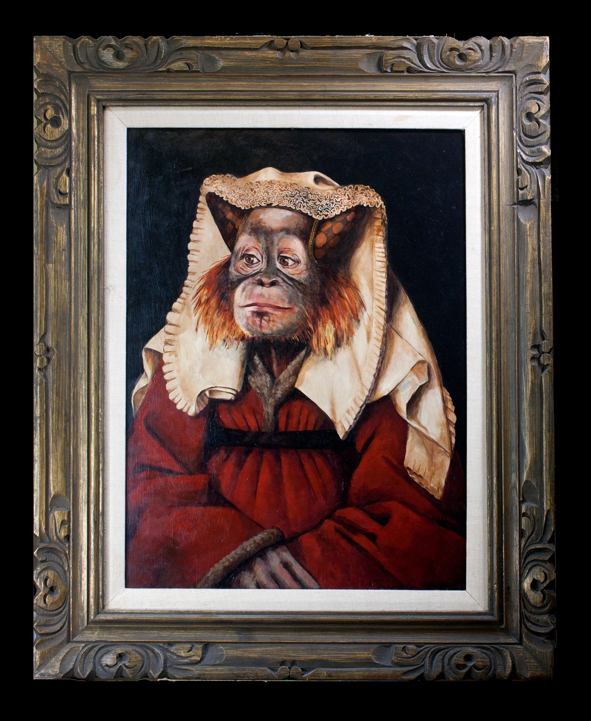 Portrait of Margaret Van Orangutan by Cassandra Kim