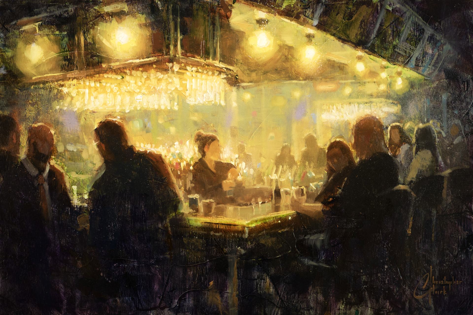 Night out With Friends by Christopher Clark