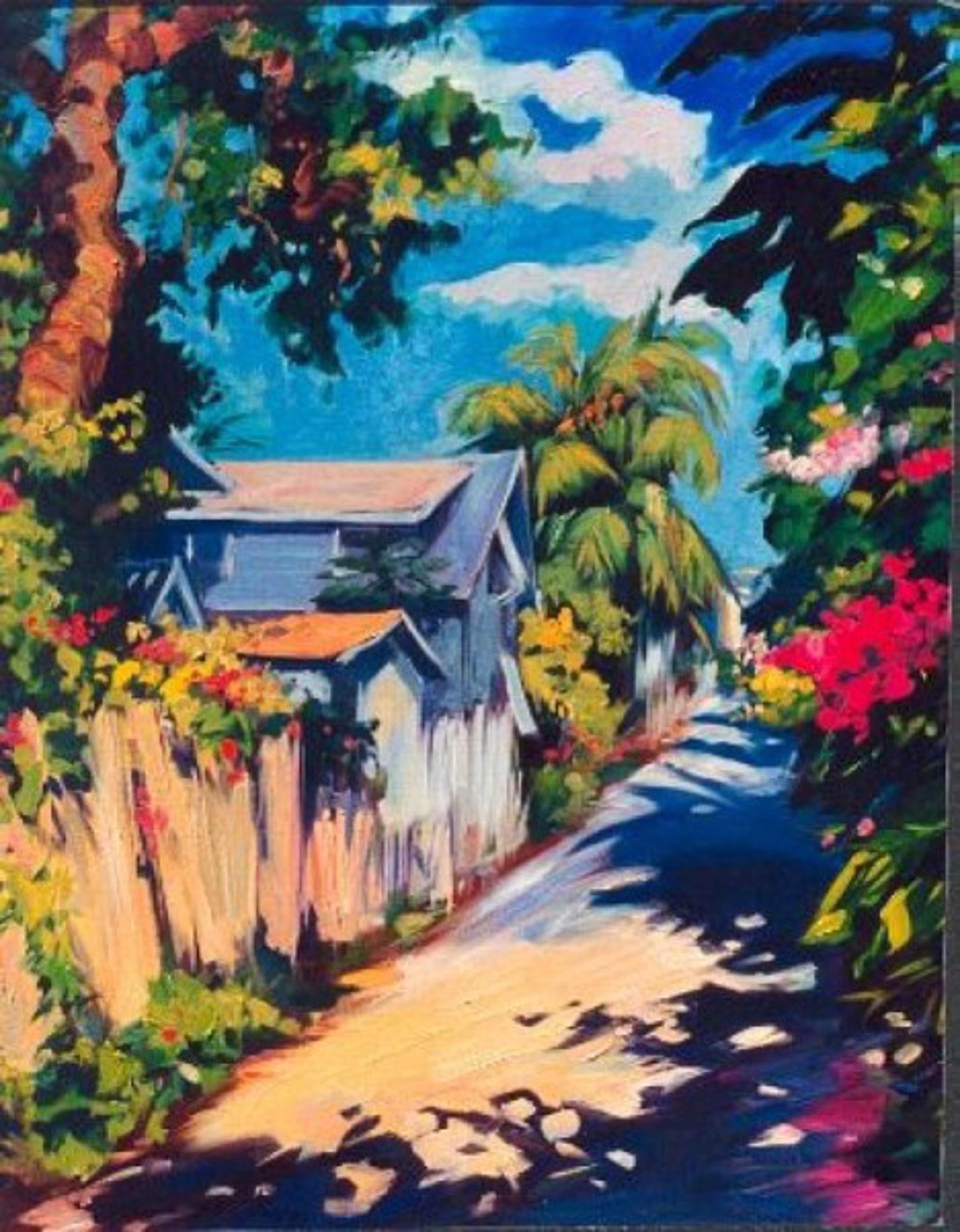 Sunlit Alley by Maria Bertrán