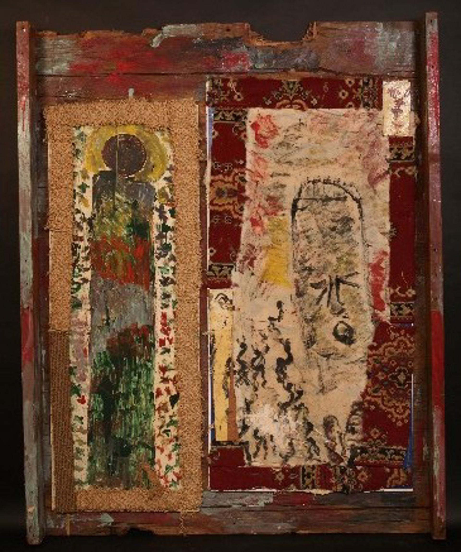 NOT FOR SALE - Saint & Angel by Purvis Young (1943 - 2010)