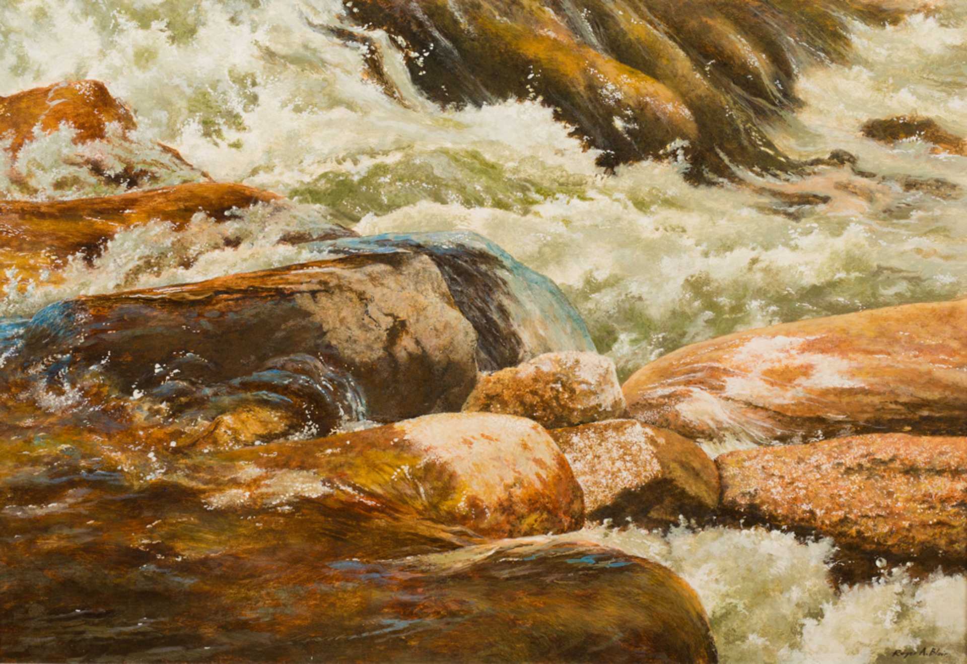 Rush Hour on Paint Creek by Roger Blair