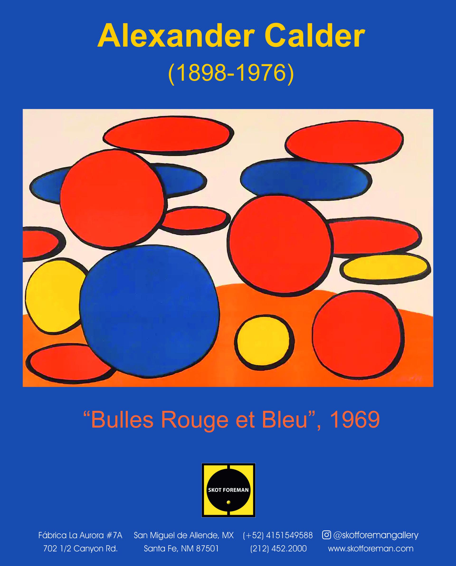 Bulles Rouge et Bleu by Alexander Calder