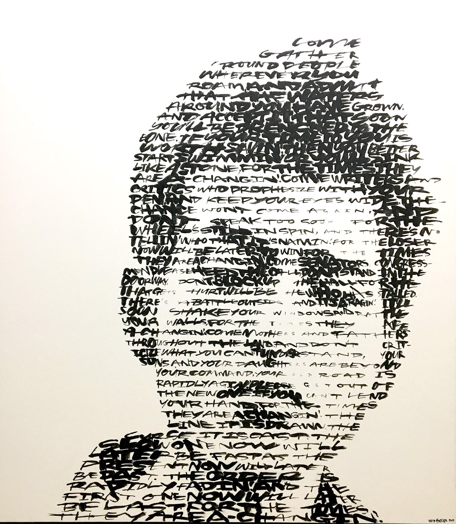 Bob Dylan (Text: Times They Are A Changin') by David Hollier