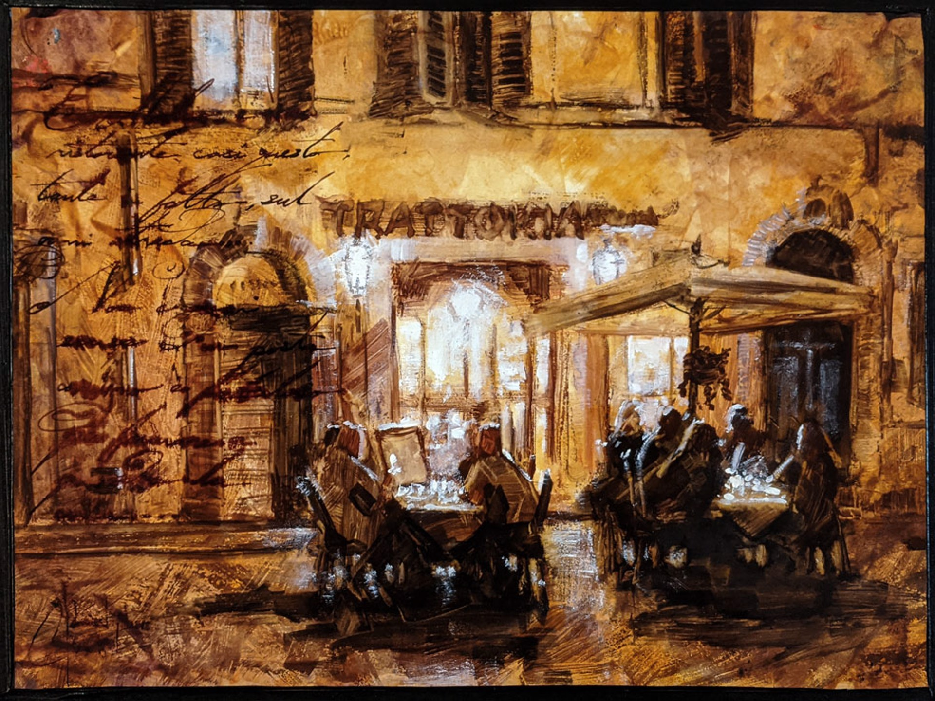 Trattoria in Rome by Christopher Clark